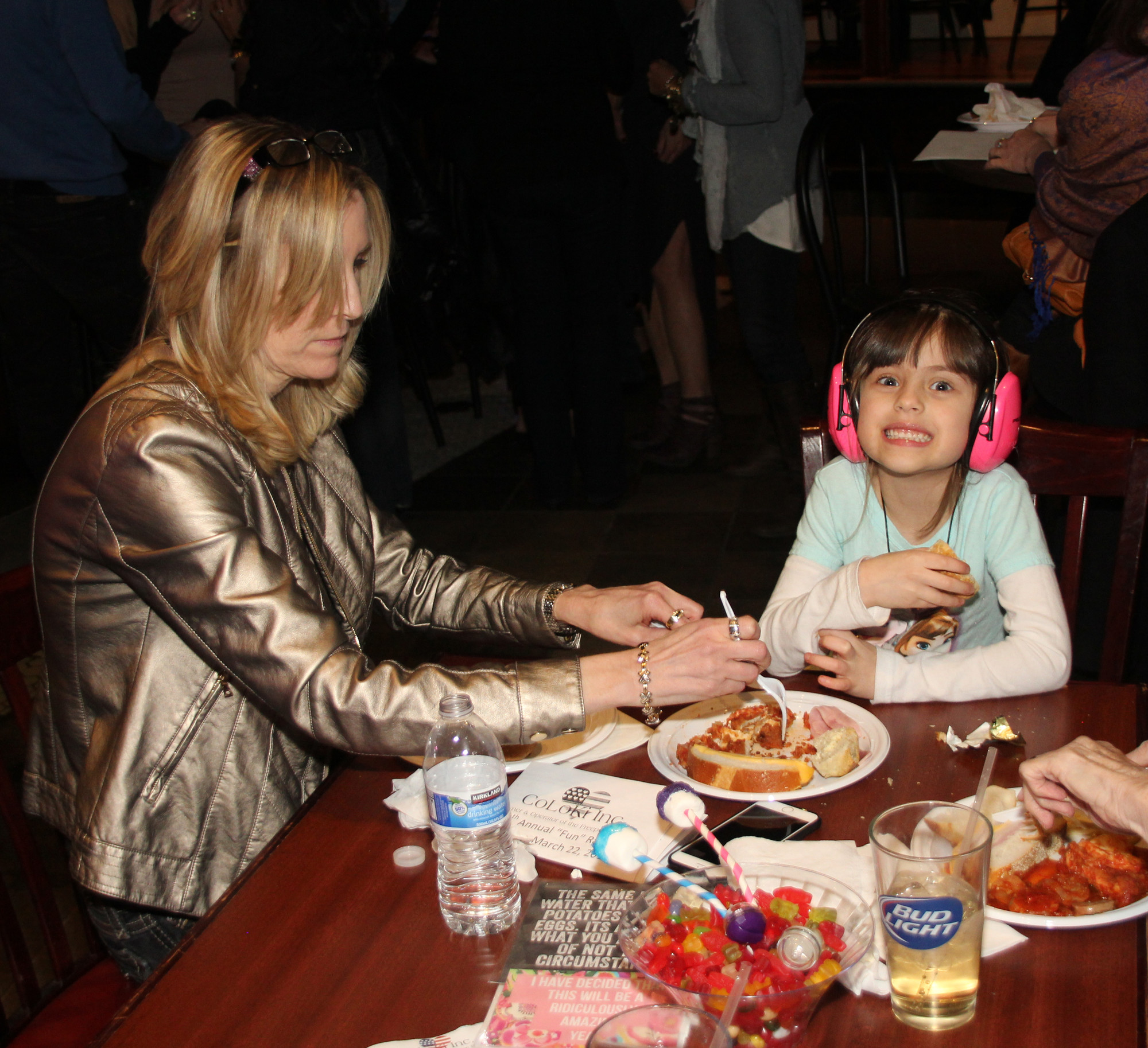 Allison Rohlman and her daughter Valentina enjoyed the food.