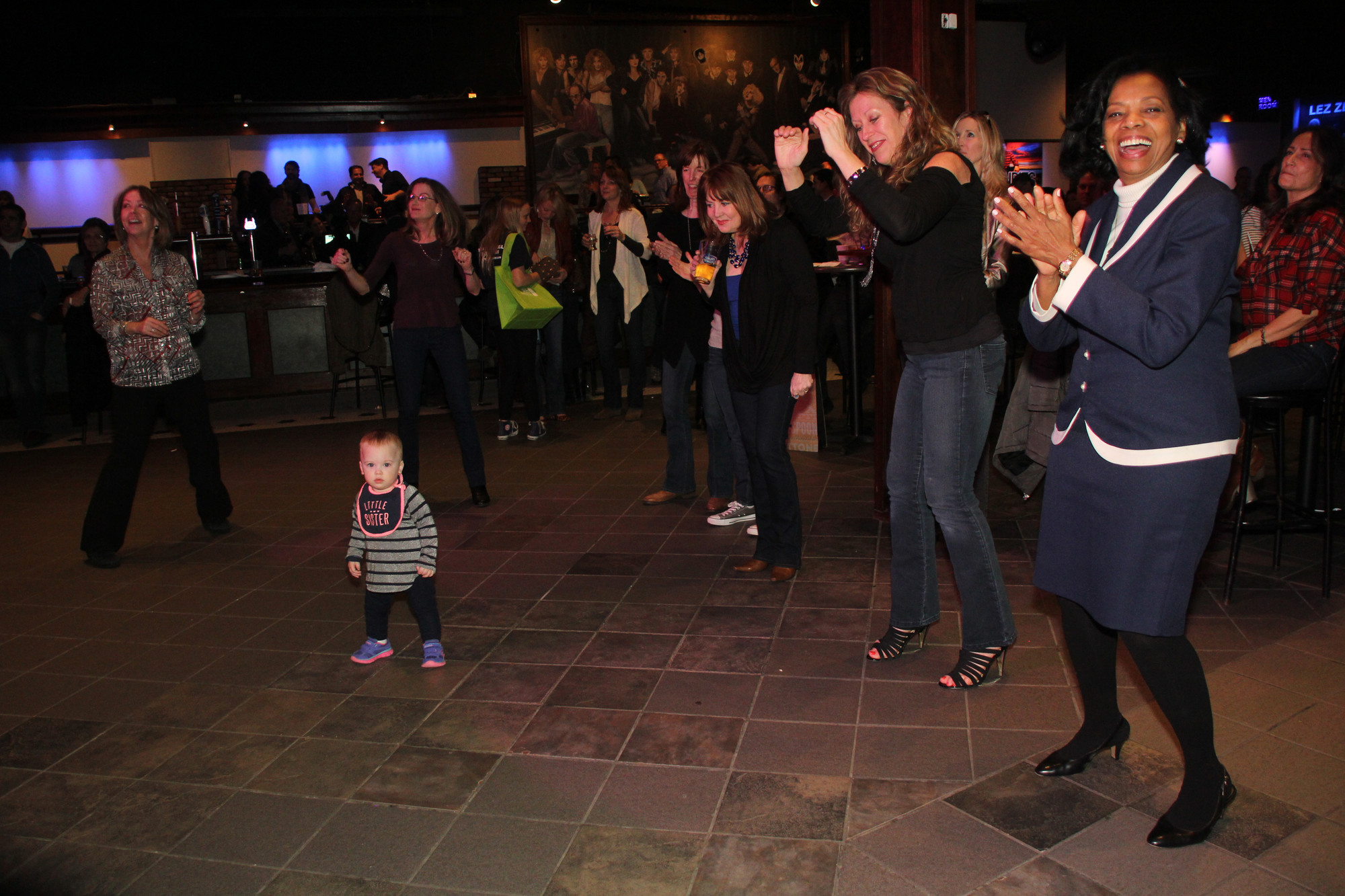 The dance floor was the place to be, even for little ones.