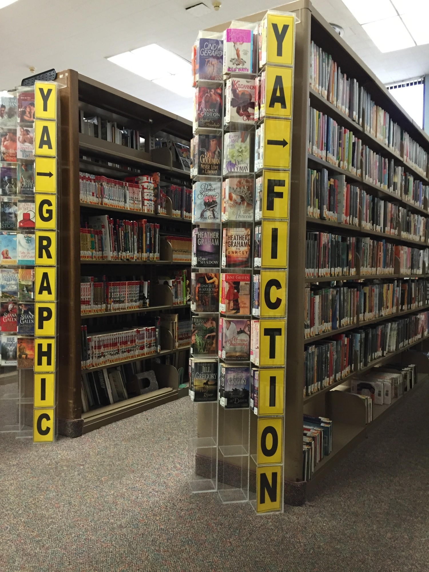 The young adult section would be expanded from two shelves of materials to a room.