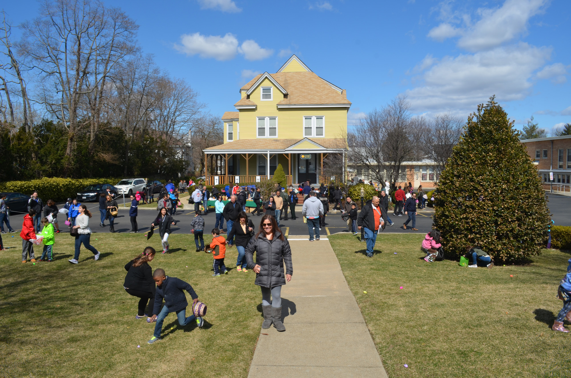 St. Joseph's R.C. Church in Hewlett hosted the annual  Father John Farrell Council 5962 Knights of Columbus Easter Egg Roll Children on April 4. Above, kids hunted for the eggs.