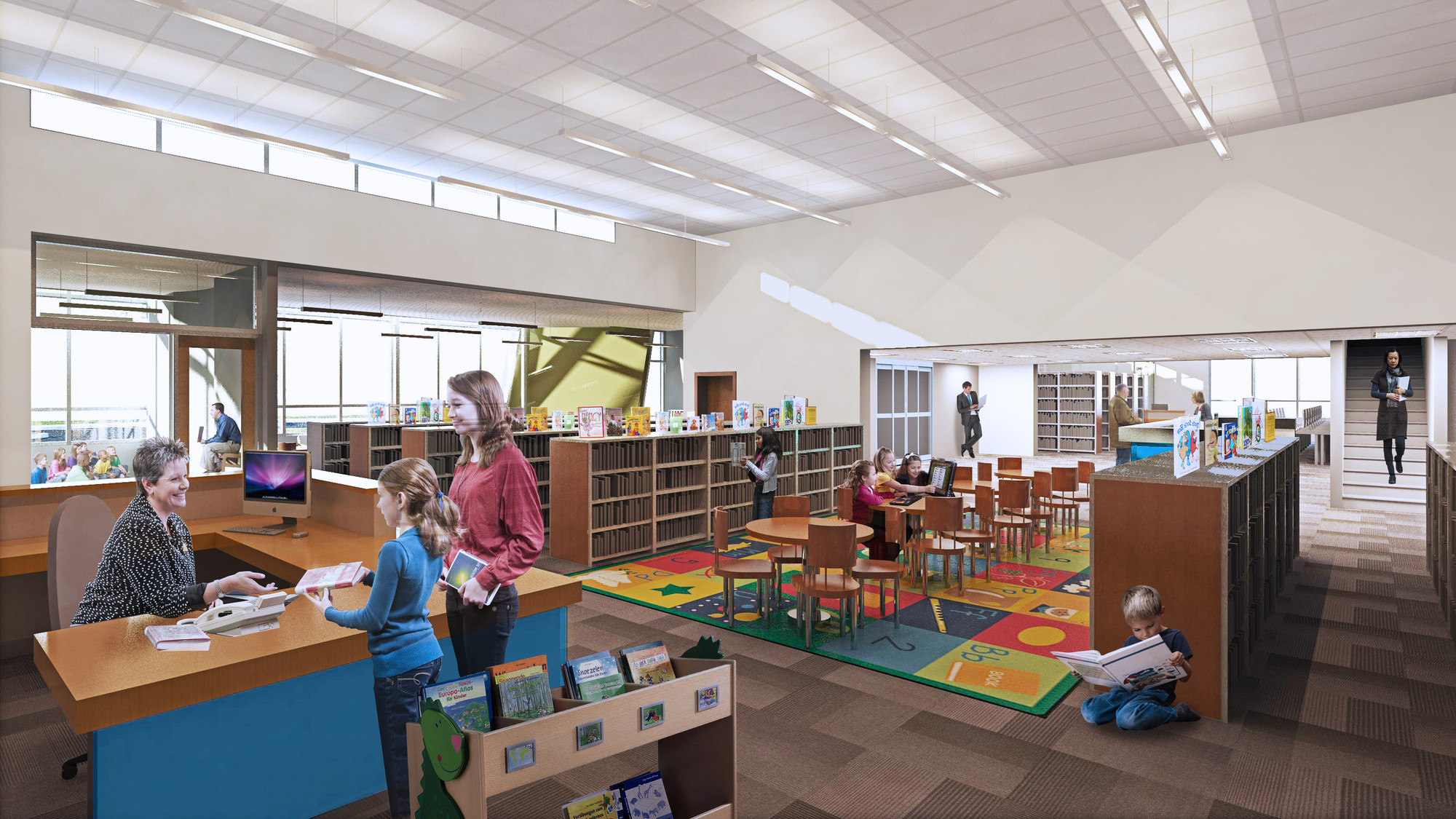 The proposed renovation and expansion of the children's library will increase the area devoted to this extremely important part of the library by 90 percent.