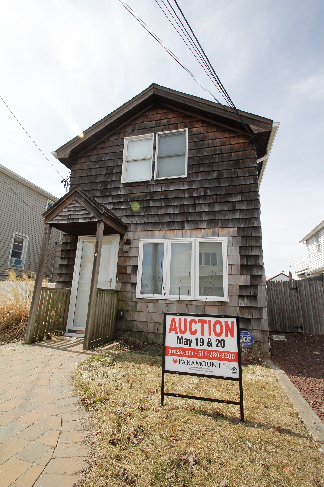 This Sandy damaged house in Freeport was up for auction last week.