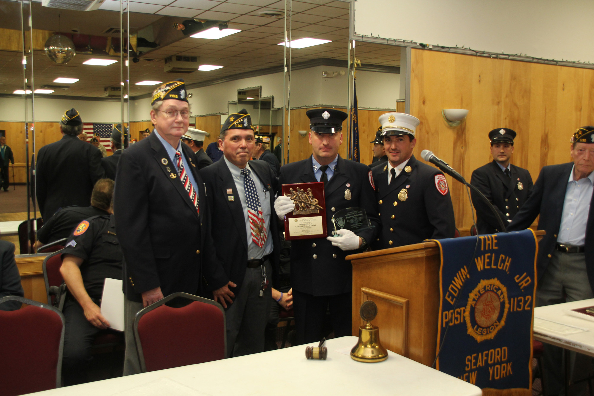 Christian Gadowski, second from right, received the Lt. Keith P. Kern Member of the Year Award.