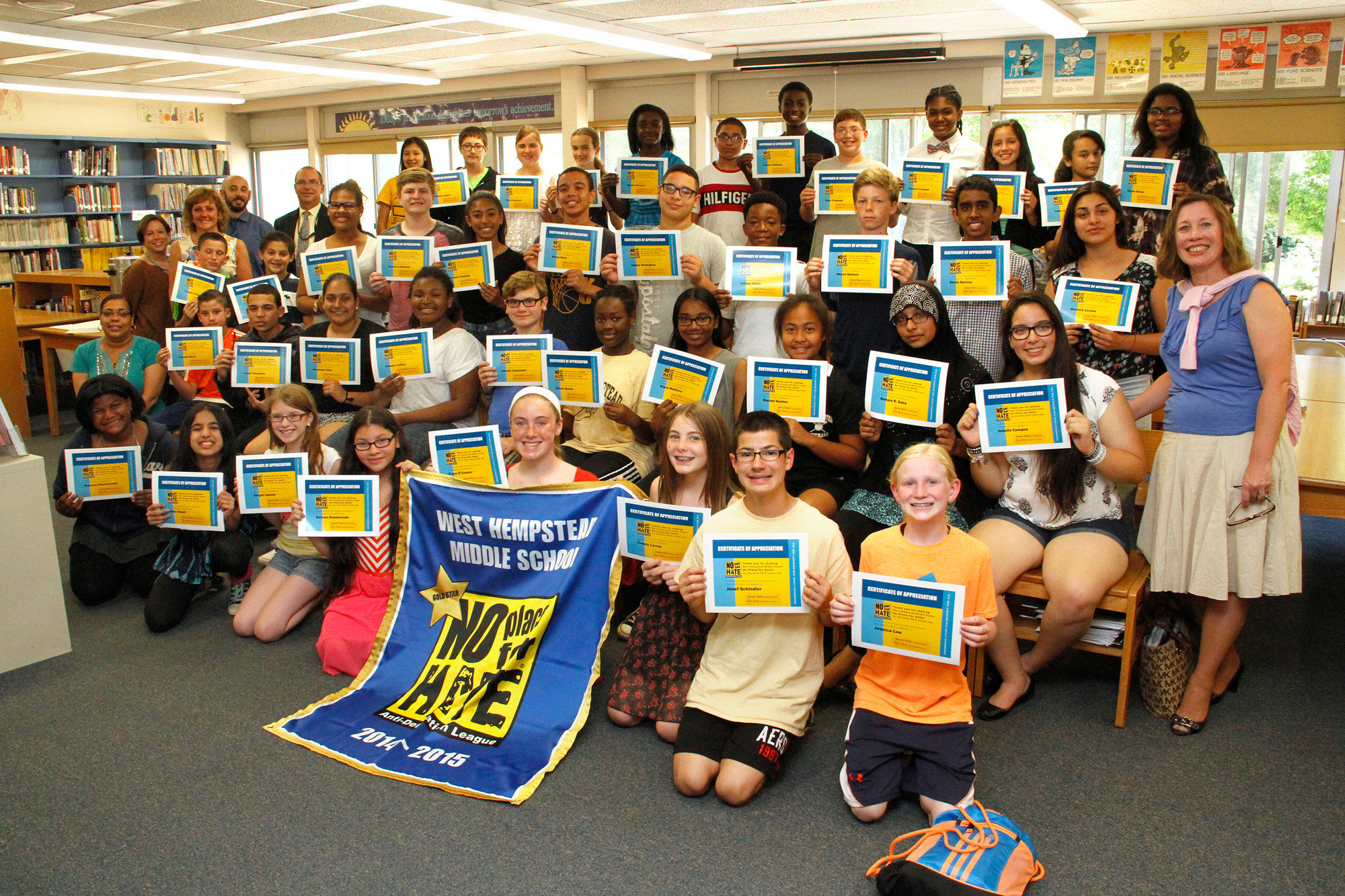 WHMS is the only Nassau County school with the No Place for Hate Gold Star designation.