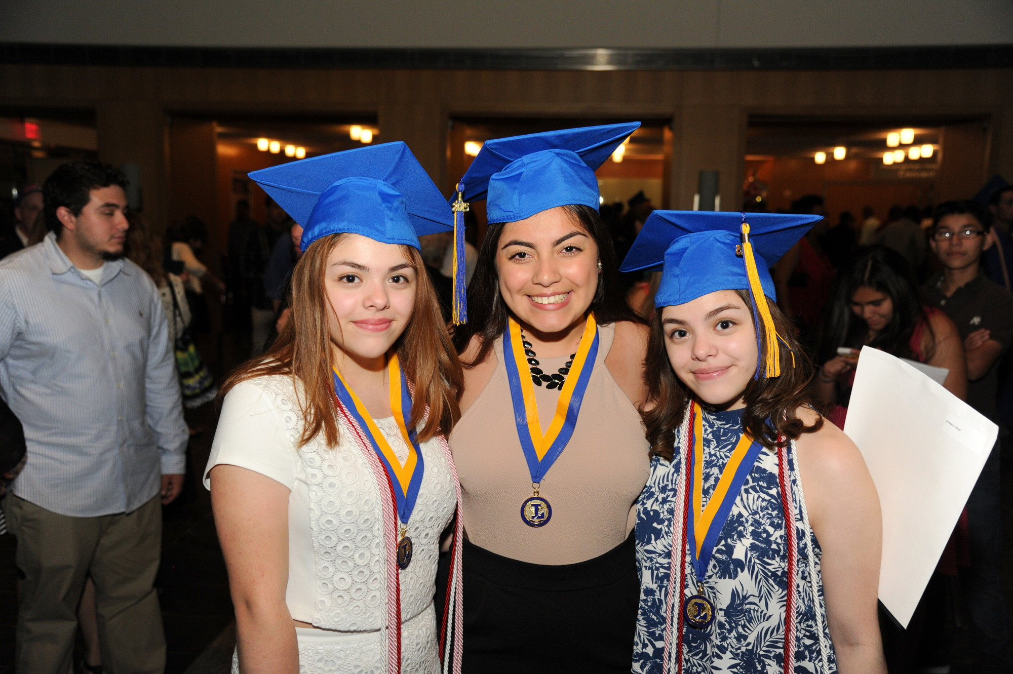 Siblings and Friends Janice Estrade, Anhie Batres and Ivette Estrada after graduation.