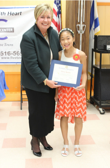 JCC volunteer Emma Barnett was among those recognized for her efforts by Town of Hempstead Supervisor Kate Murray.