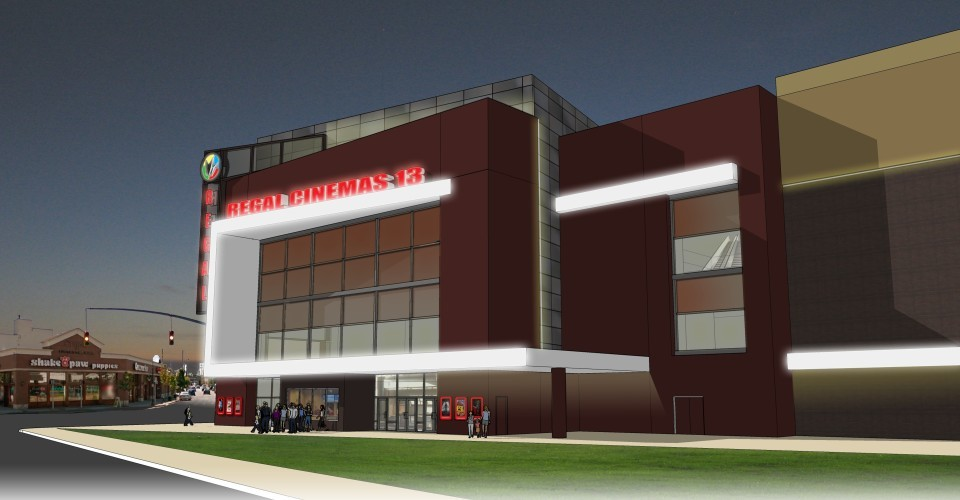 Construction of the new theater, here in an artist's rendering, is slated to begin later this year, following a review by the Nassau County Industrial Development Agency and the county fire marshal.