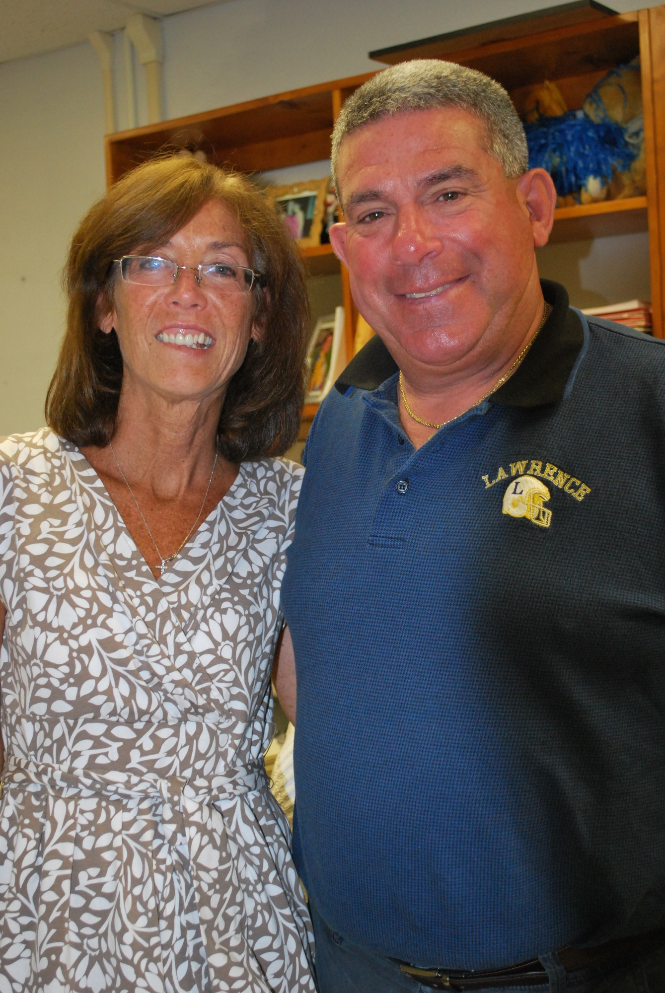 Pat Pizzarelli, who received help for the past 13 years from his secretary, Eileen Havey, headed the Lawrence School District's health, phys. ed. and athletics office.