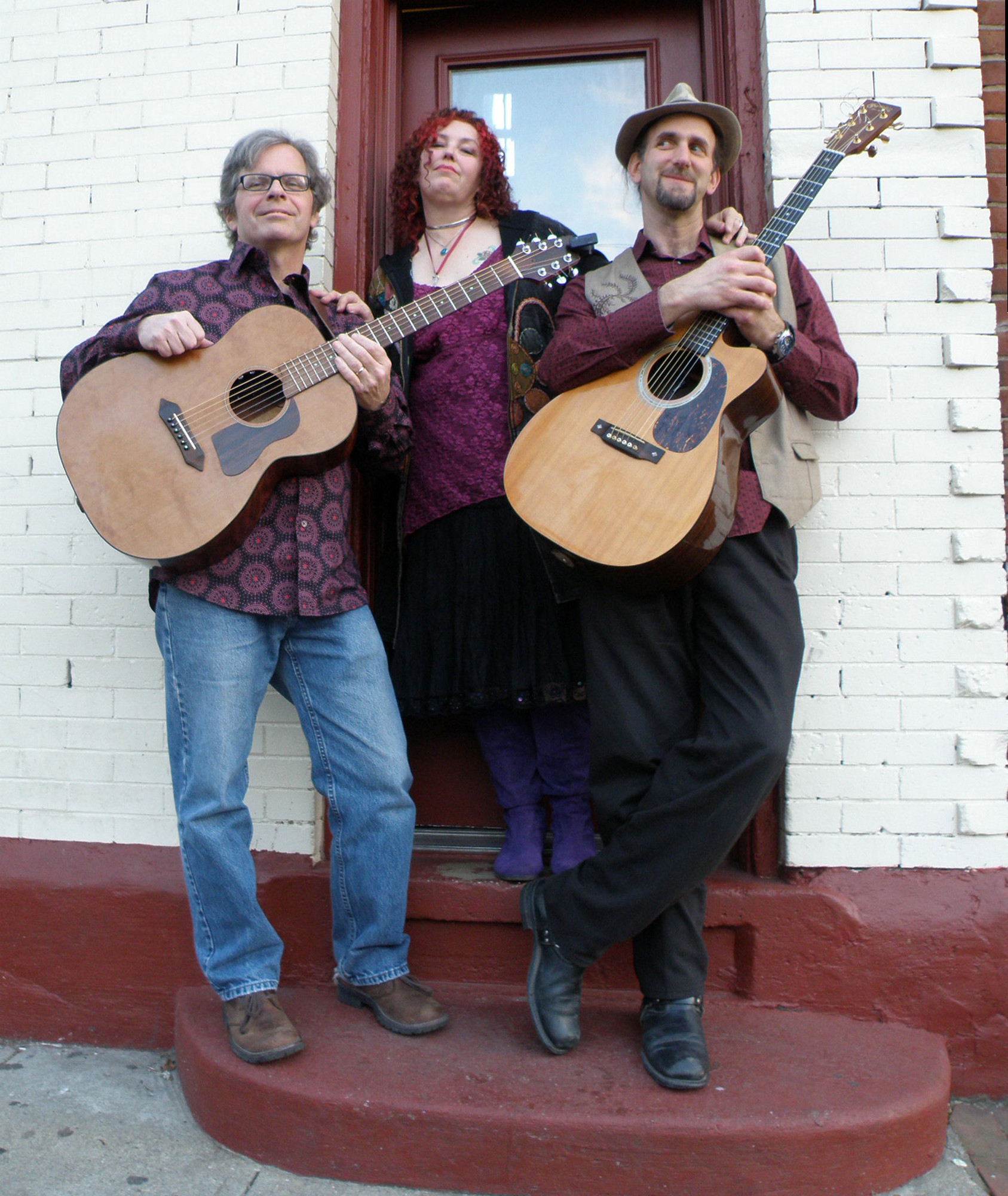 Stuart Markus, right, a Malverne resident, is leader of the folk group, Gathering Time, which will headline at the Crossroads Farm Folk Festival.