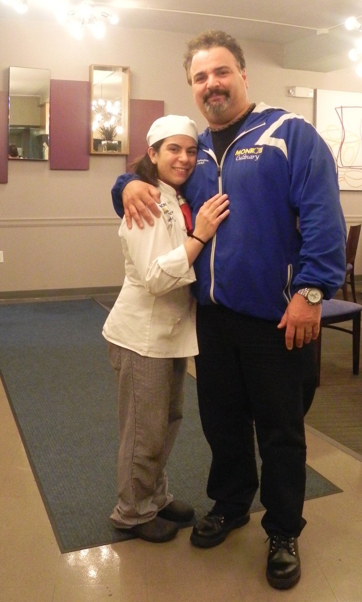 Dr. Frank Constantino has mentored Rossella Cangialosi since he met her five years ago, when he judged her cooking at an American Culinary Federation competition at Westbury BOCES.