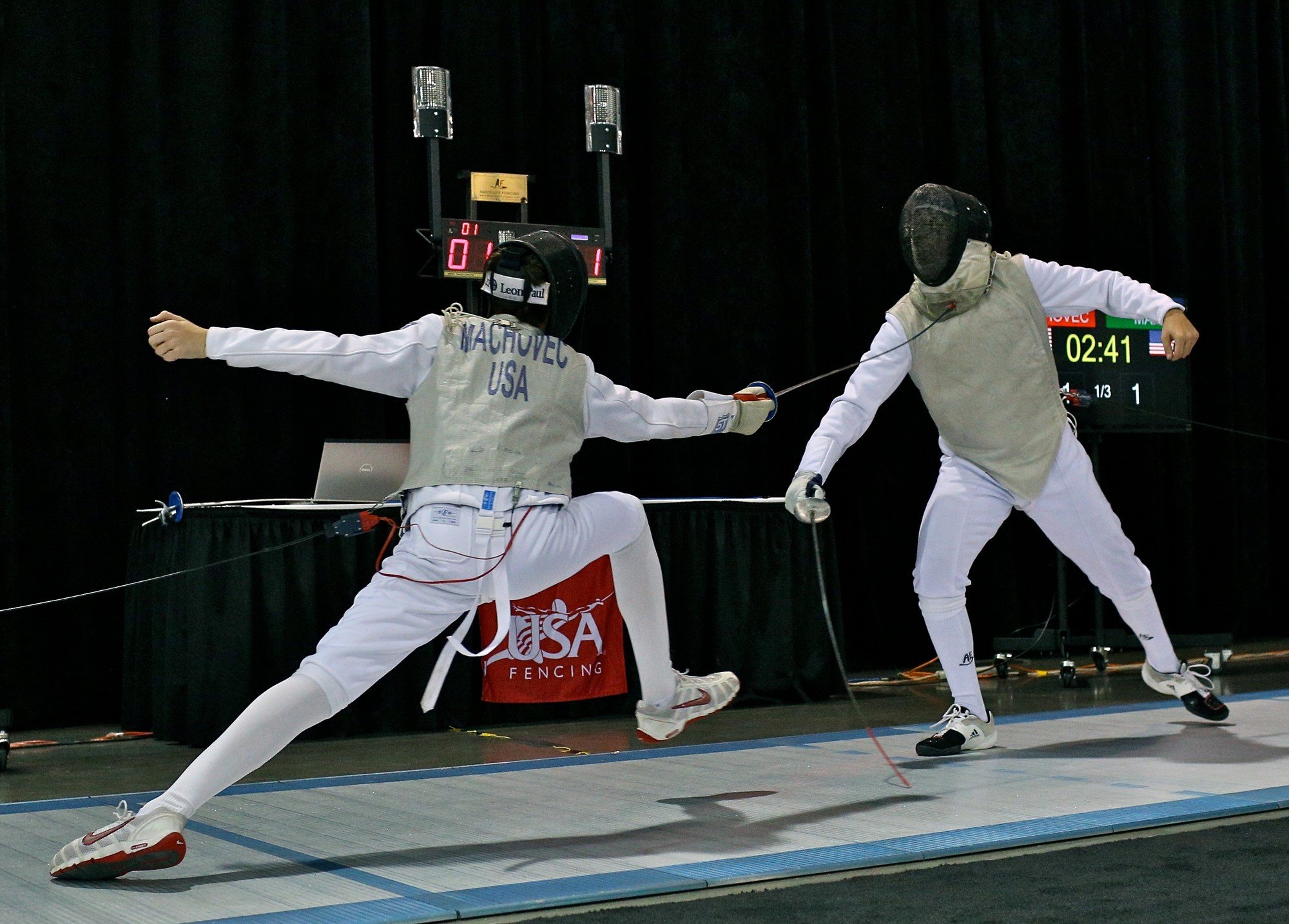 East Rockaway sophomore Andrew Machovec, left, the U.S. Youth 14 men's foil champion,  will begin his quest for a world championship in the Cadet division next month in Budapest, Hungary.