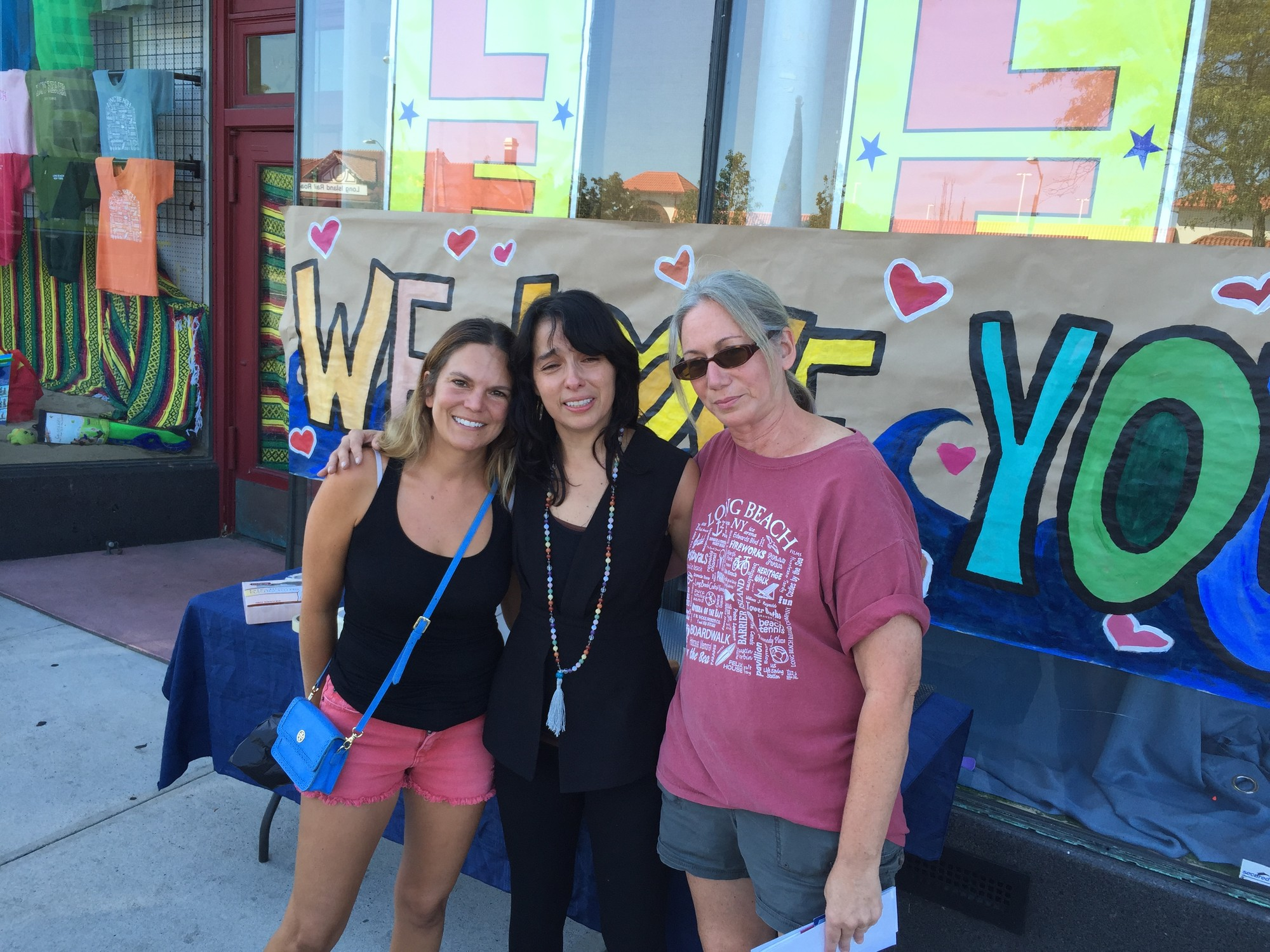 Allison Kallelis, left, owner Cassandra Bolivar and Michelle Kelly at the shop on Sunday.