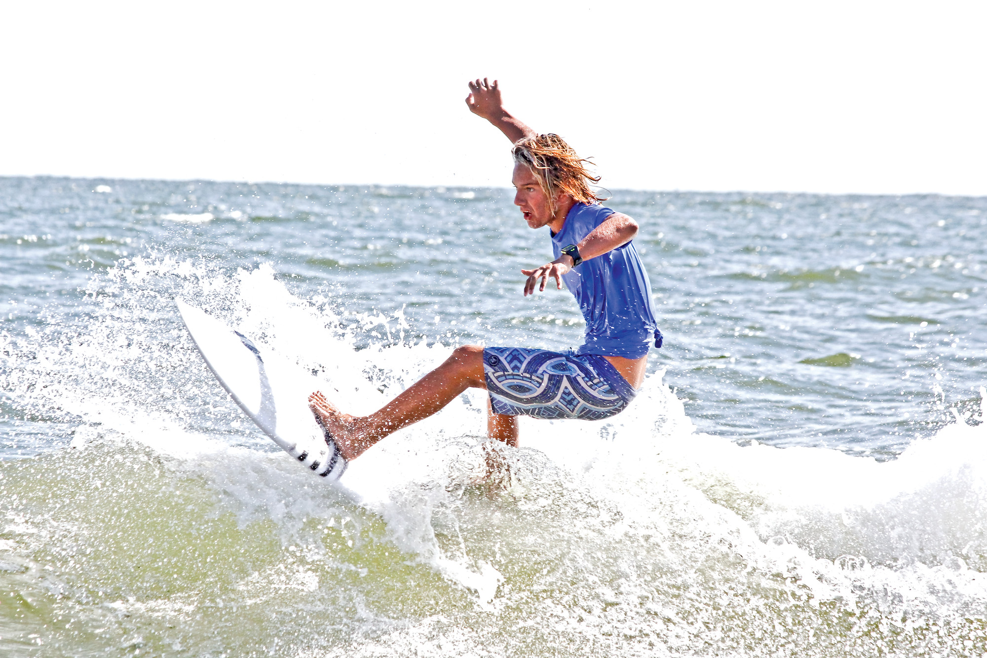 Bo Raynor rode the waves during the surf competition.