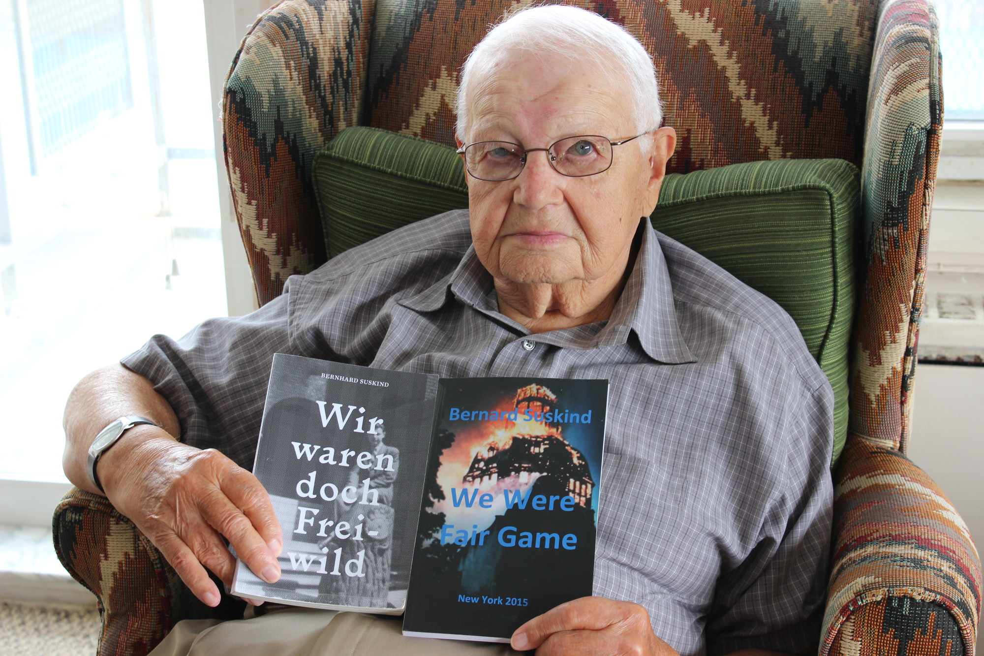 "Atlantic Beach resident and Holocaust survivor Bernard Suskind wrote a book, titled ""We Were Fair Game,"" in both English and German."