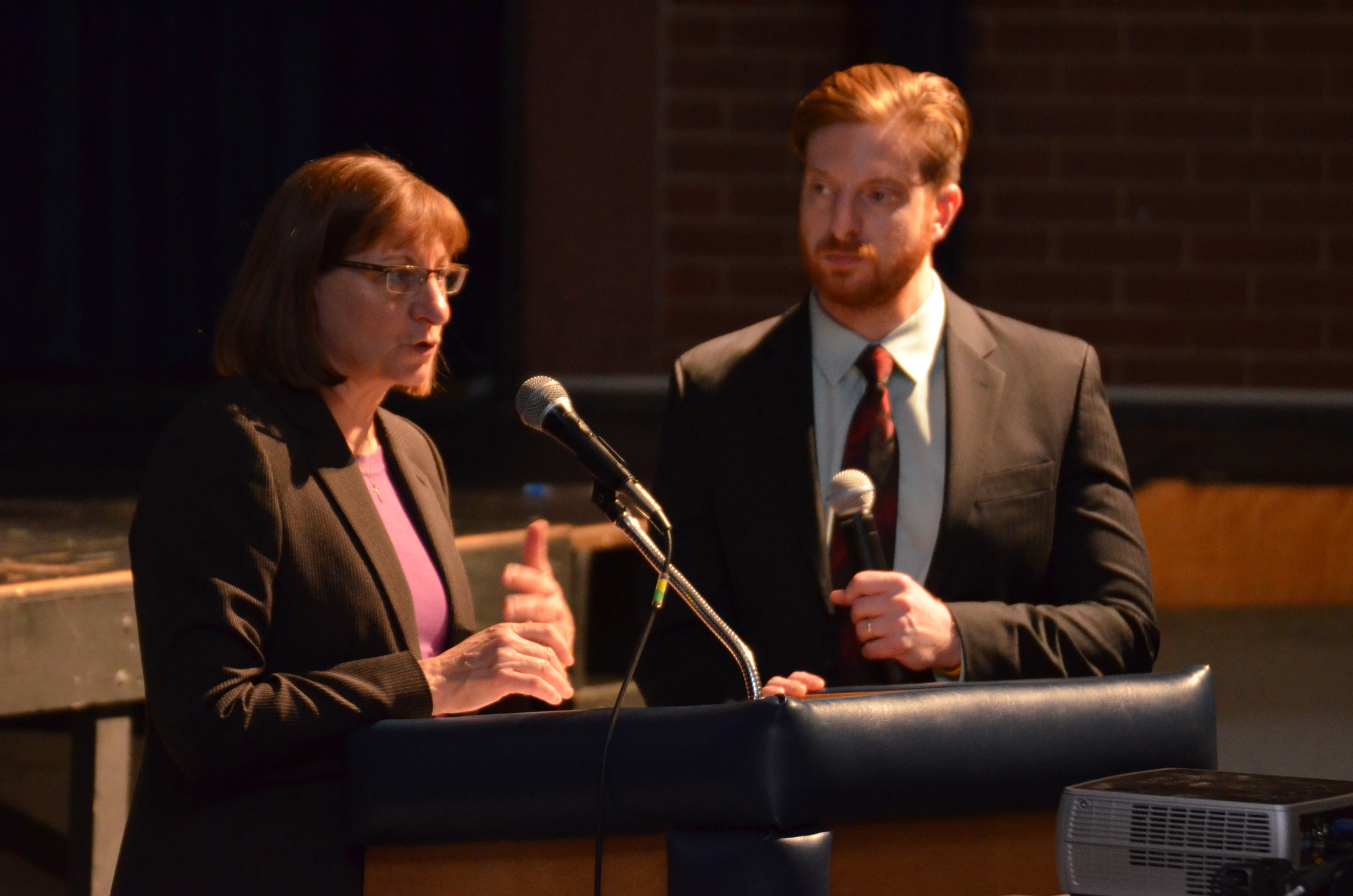 Jane and James Clementi spoke to Baldwin High School students about the perils of bullying.