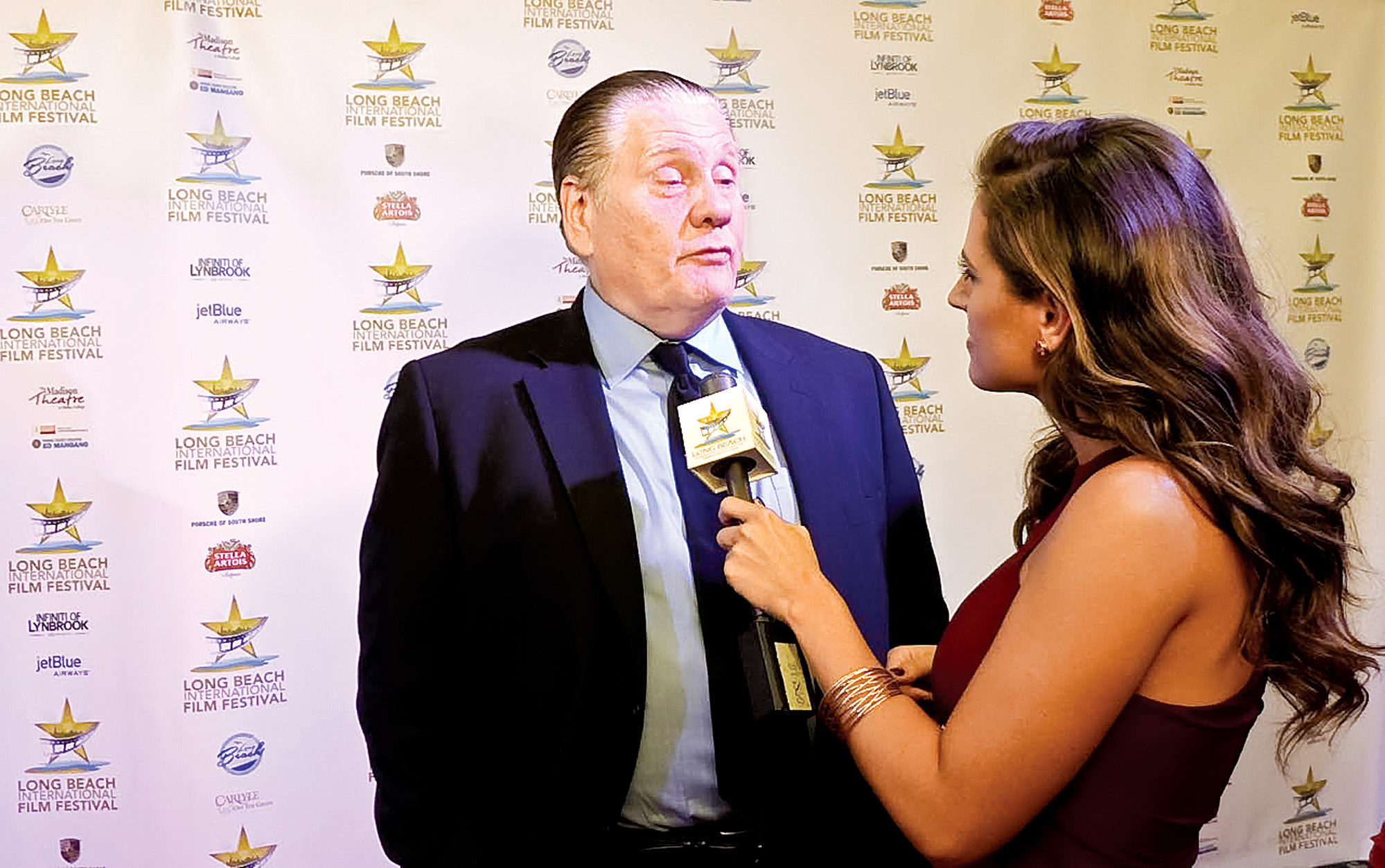 "William Forsythe, who played Jake LaMotta in ""LaMotta: The Bronx Bull,"" which opened the festival, walked the red carpet last Thursday."