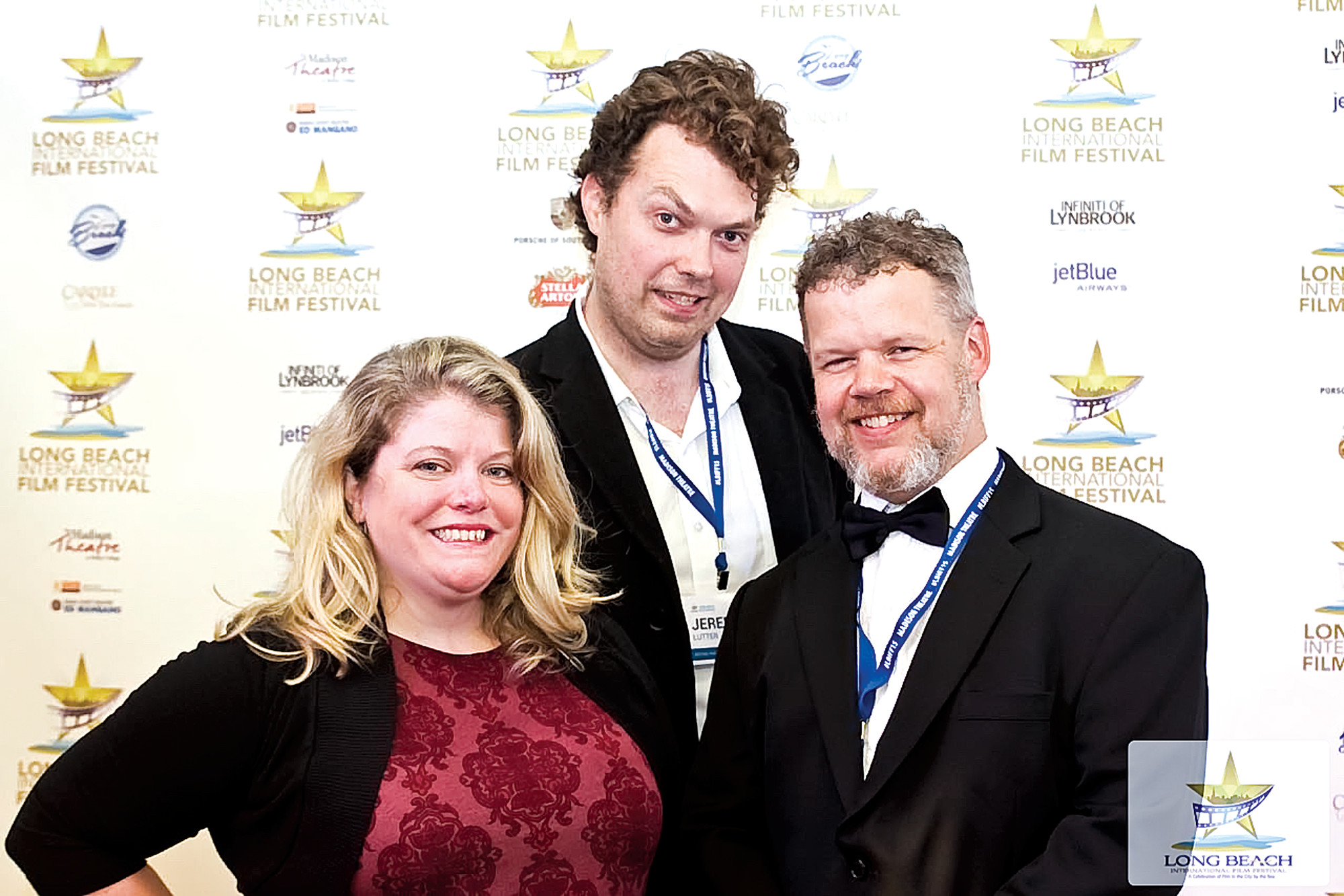 "Jocelyn Russel, Jeremy Lutter and Chris Orchard promoted their short film ""Reset,"" which took home the award for Best Narrative Short."