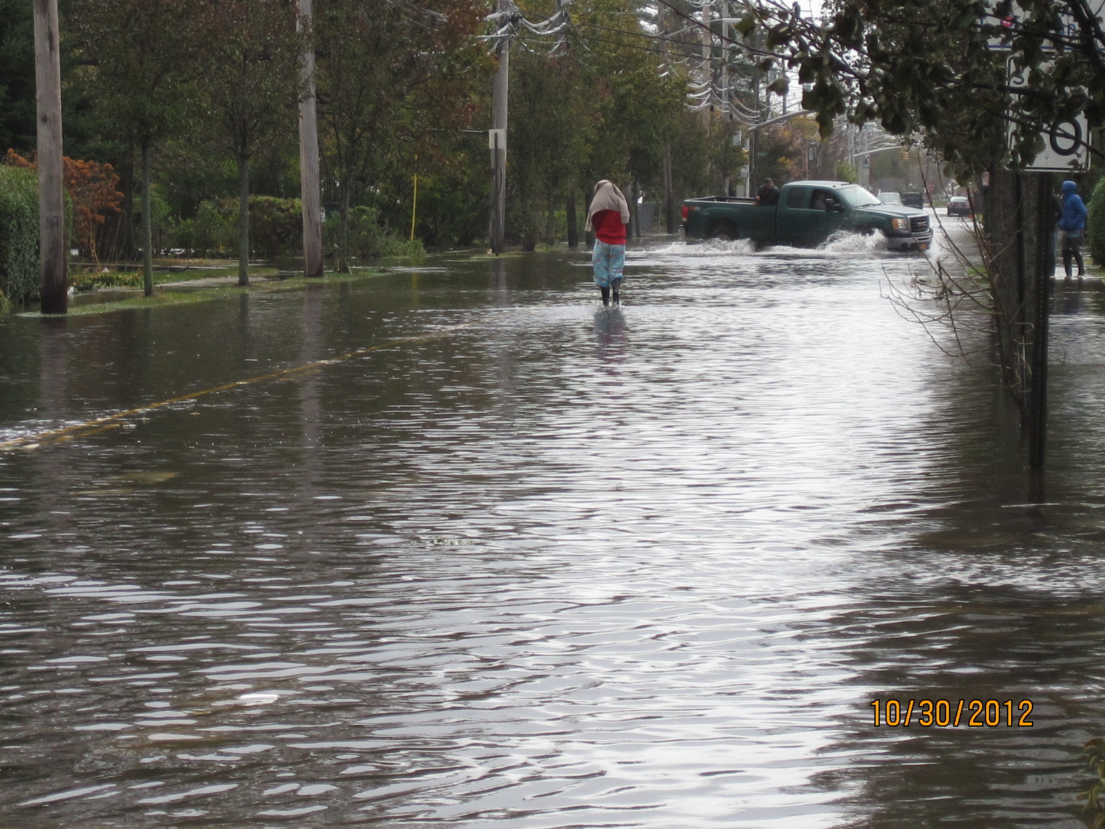 Ray Street a day after Sandy. South Freeport, below Atlantic Avenue, was deluged with anywhere from 4 to 8 feet of water.