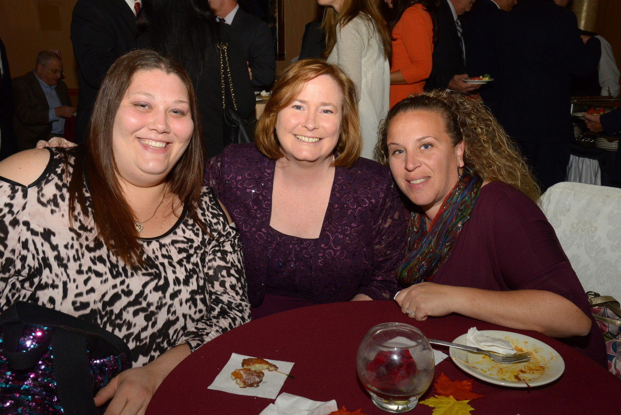 Jenn Carboy, co-president of the Special Education PTA, far left; Elizabeth Beeman, a past president of SEPTA; and Rosamaria Prendergast, PTA president of Oceanside Middle School.