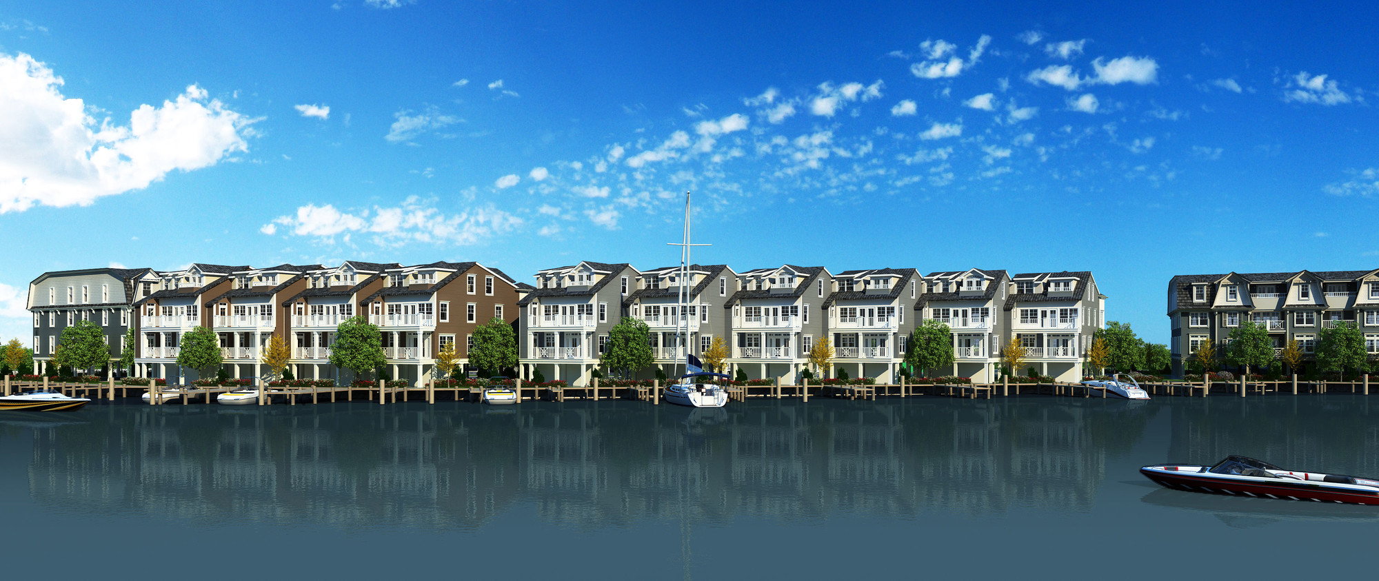 An artist's rendering of the Marina Pointe East Rockaway Condominiums, expected to be completed in 2017.
