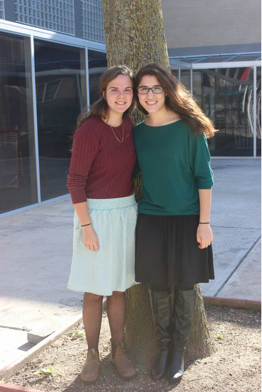 Yuval Shecter, left, and Odeya Yoker are part of the Bat Ami program, which helps women ages 18 to 20 gain life experience and serve their country.