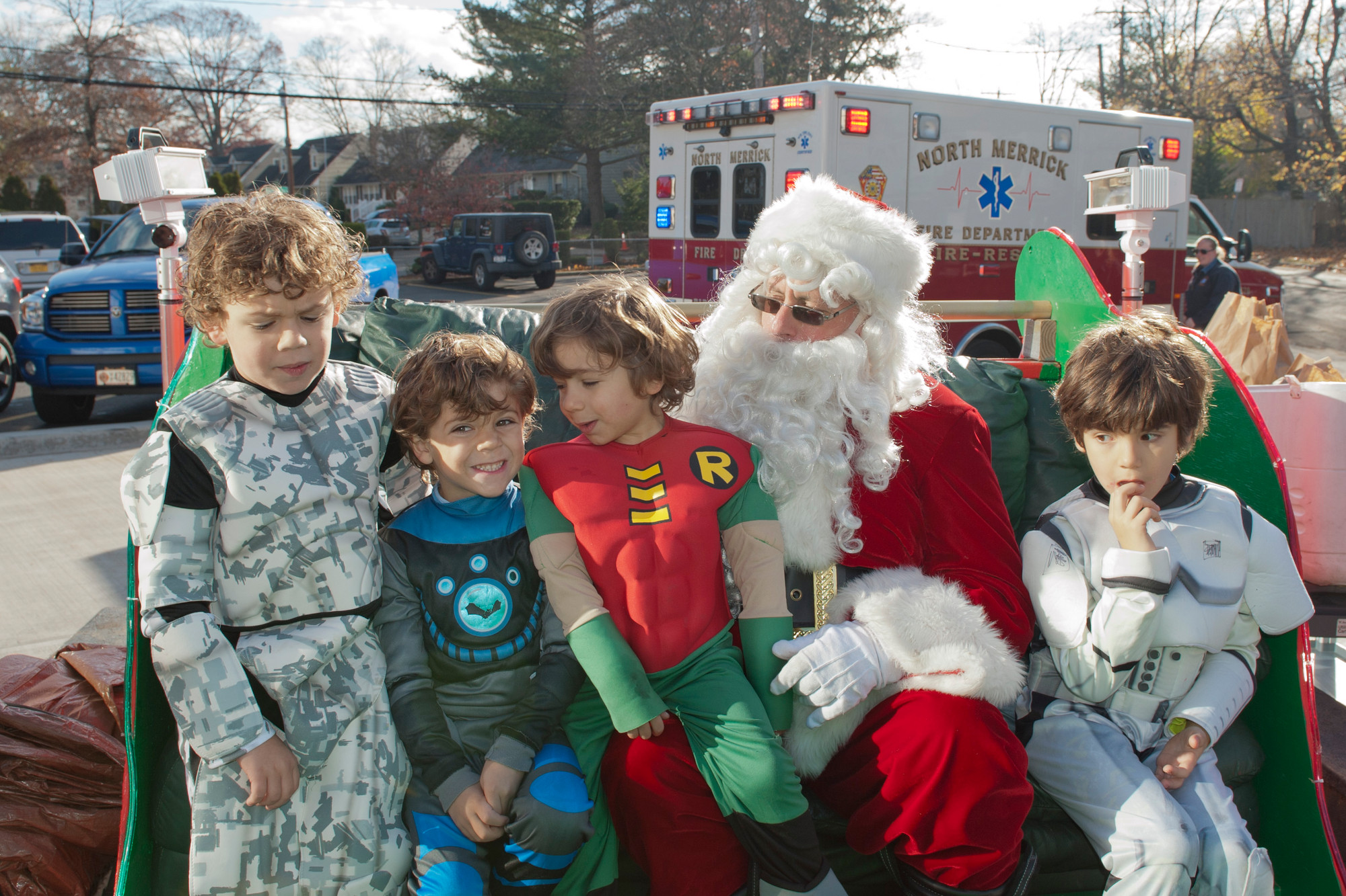 North Merrick F.D. Rag-A-Muffin Parade with Santa