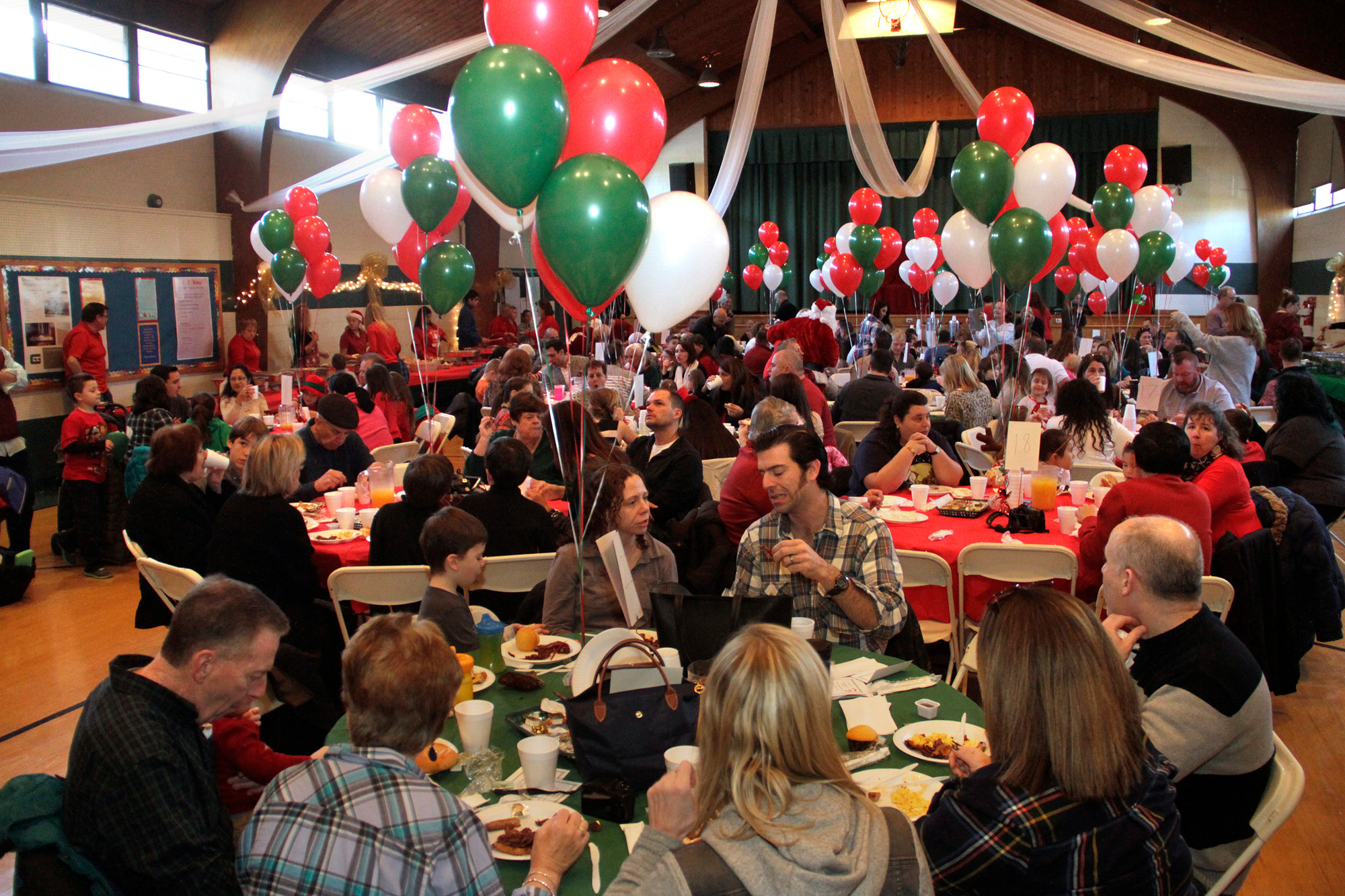 Hundreds of people had breakfast with Santa at Grace Lutheran Church.