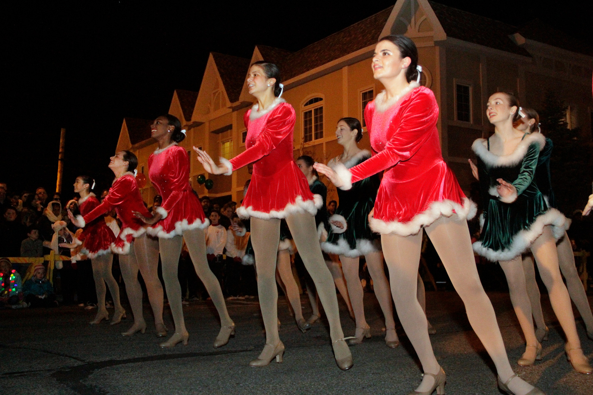 The Tap to Pointe dancers performed to Christmas tunes on Church St.