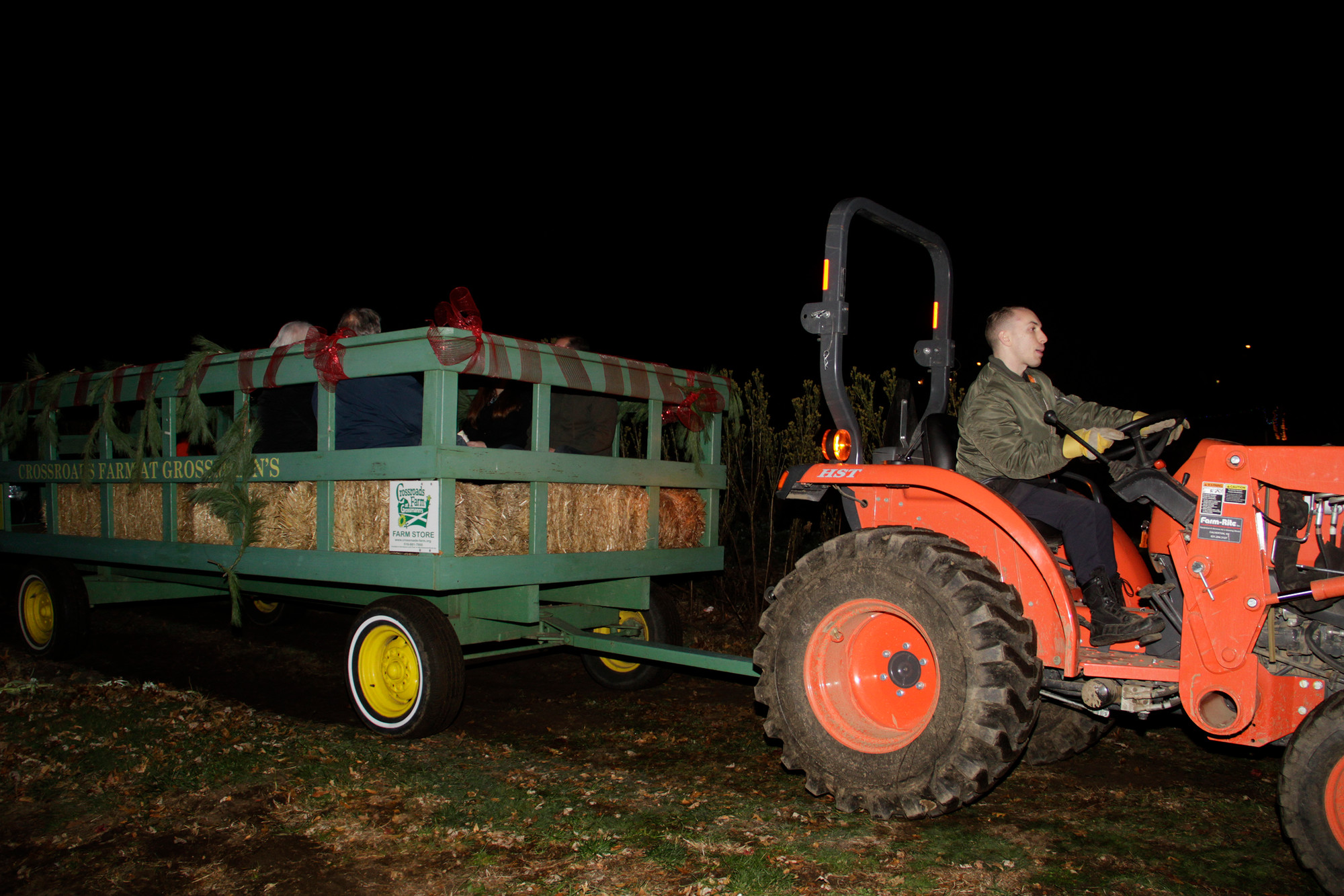 Michael Forlife volunteered his give a hayride to those who visited Crossroads Farm on the day of the lighting.