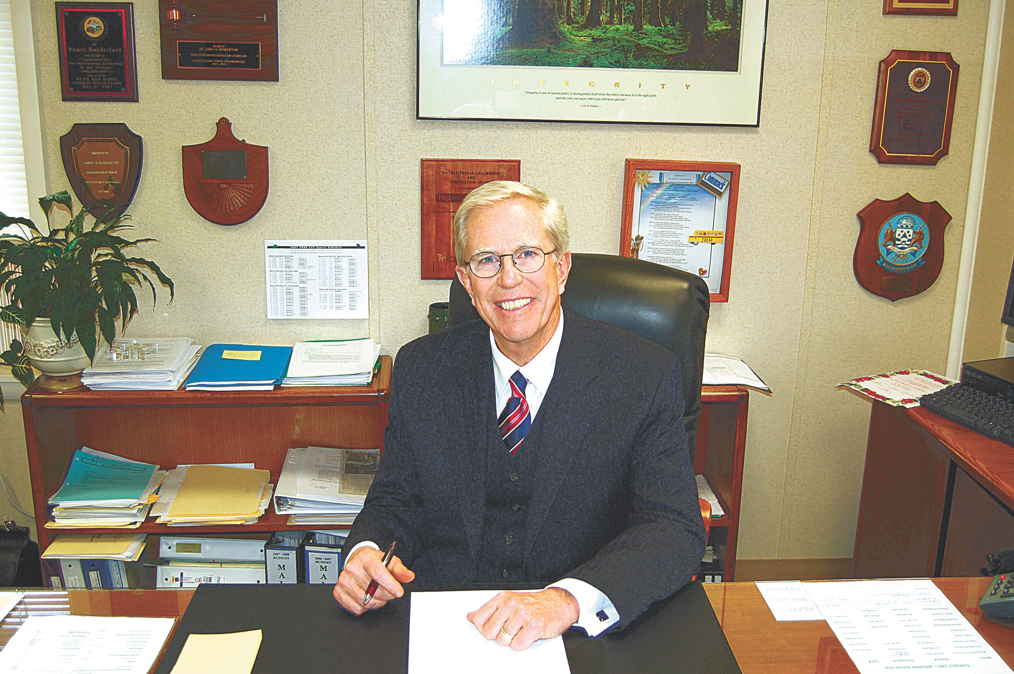 Malverne Superintendent Dr. James Hunderfund has been an educator for nearly 50 years.