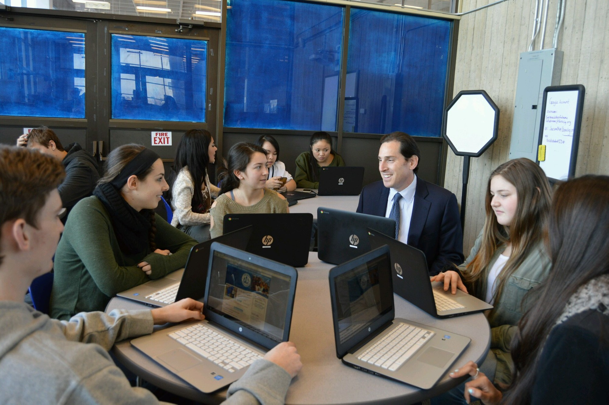 State funding secured by Assemblyman Todd Kaminsky allowed Long Beach High School to purchase 139 Chromebooks.