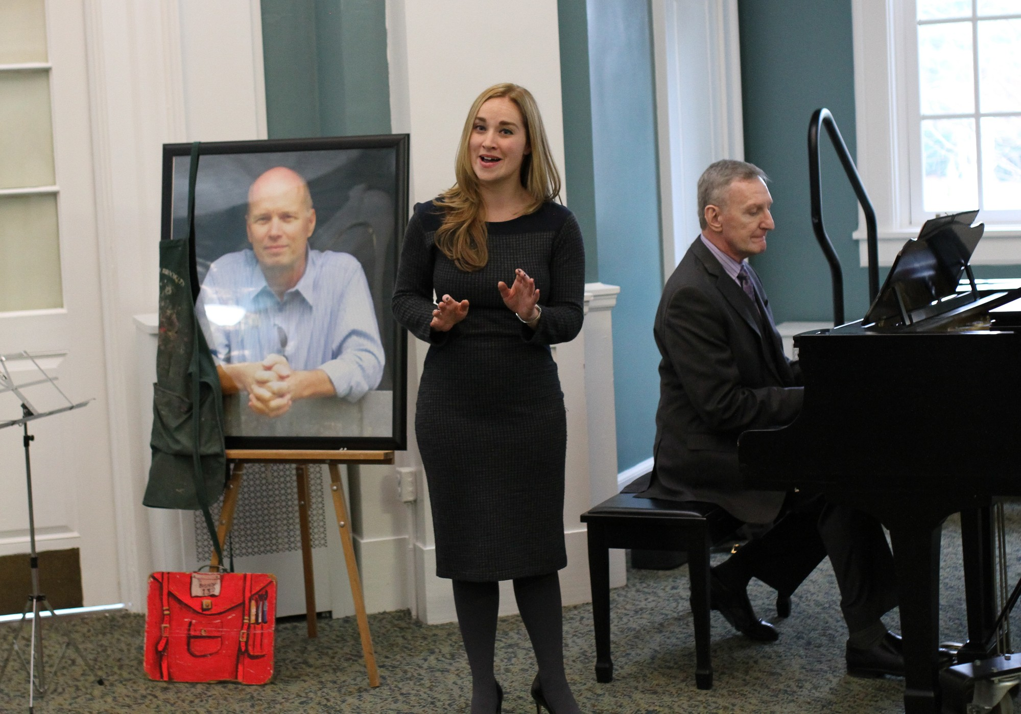 "Jaime Hastings, an East Rockaway High School alumnus class of 202, who knew Bishop best through working with him in the school musicals, performed a song in Bishop's honor, ""If"" (""If a picture paints a thousand words..."") by Bread."