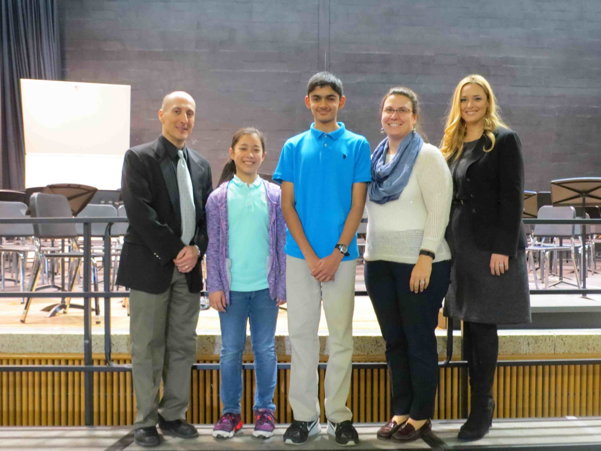 Two W.T. Clarke Middle School students were honored.