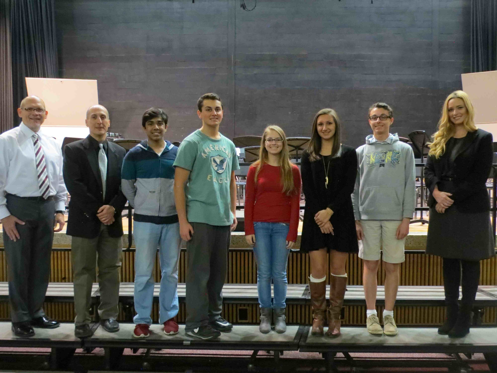 Multiple W.T. Clarke High Schoolers received distinctions from LISFA.