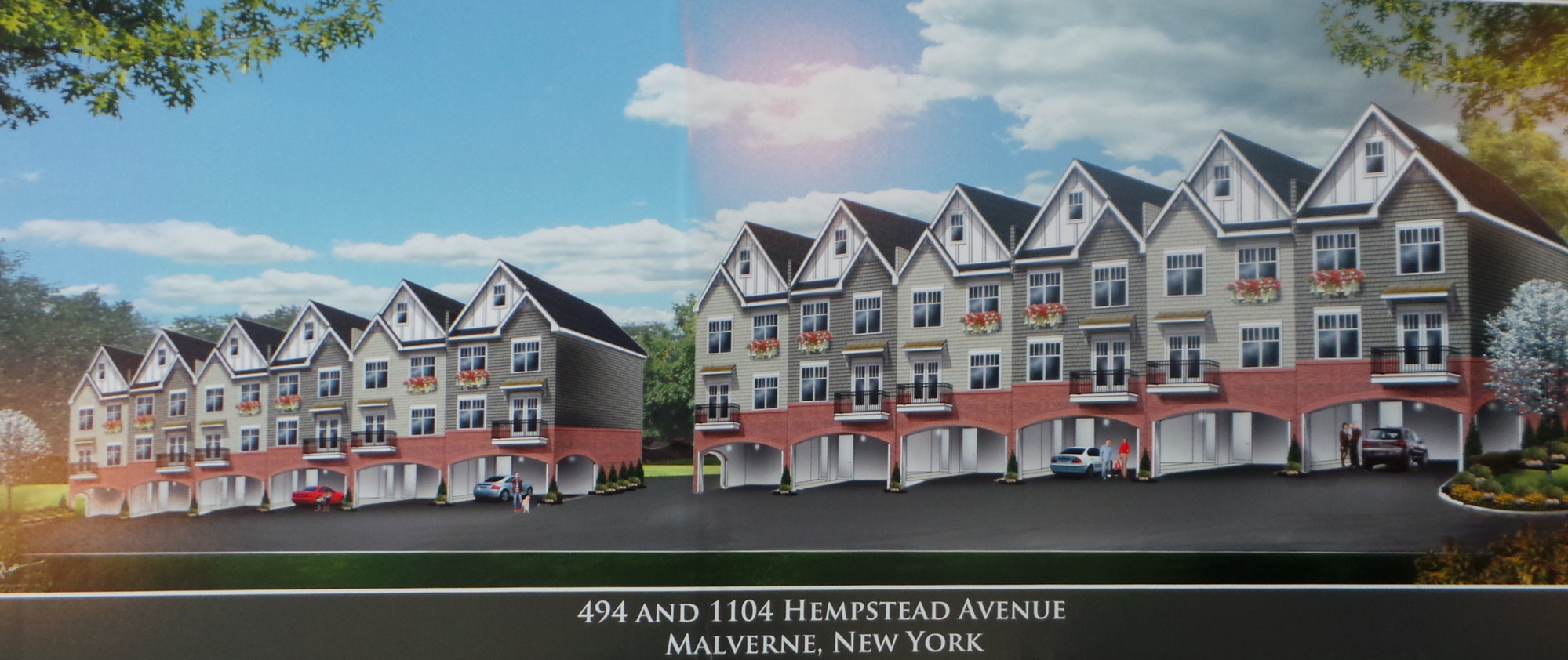 an artist's rendering of the proposed development shows two buildings containing 