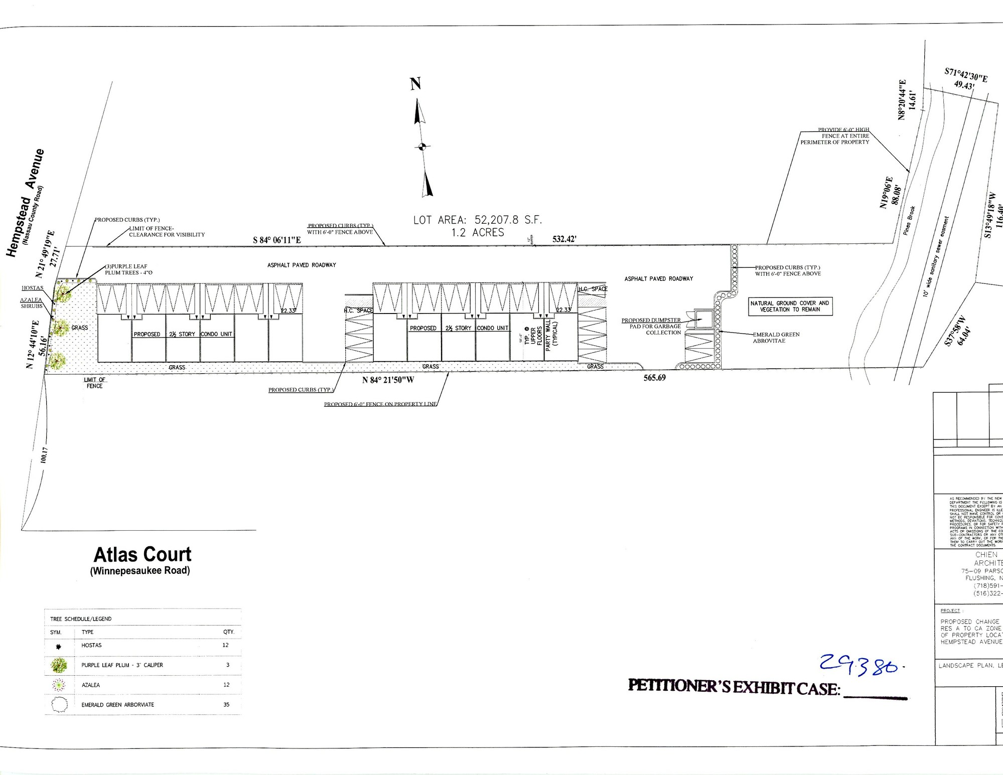 Blueprints for the proposed development.