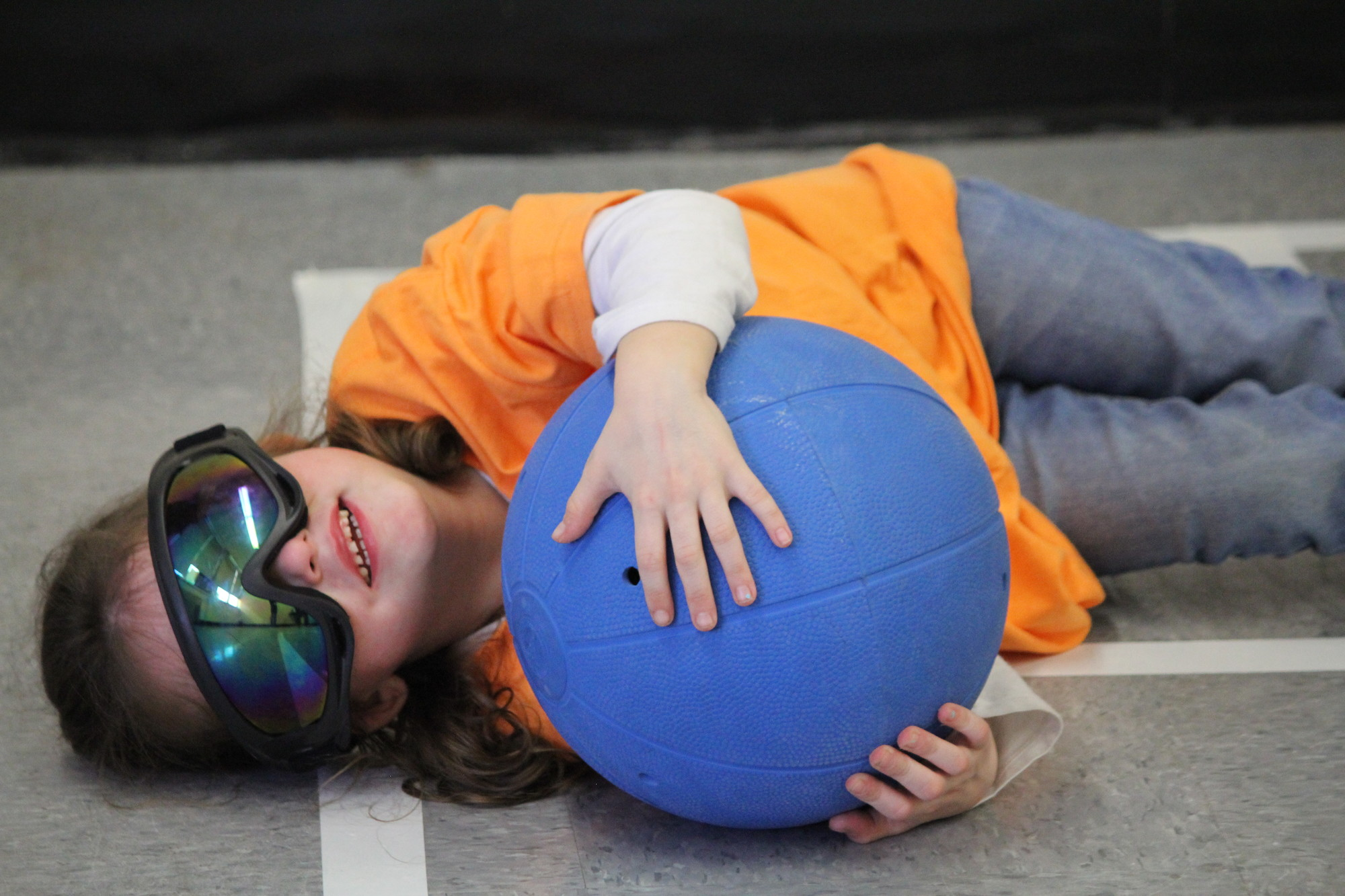 Kayla Ochtera, a 6-year-old East Meadowite, said she had a lot of fun playing a special game called Goalball.