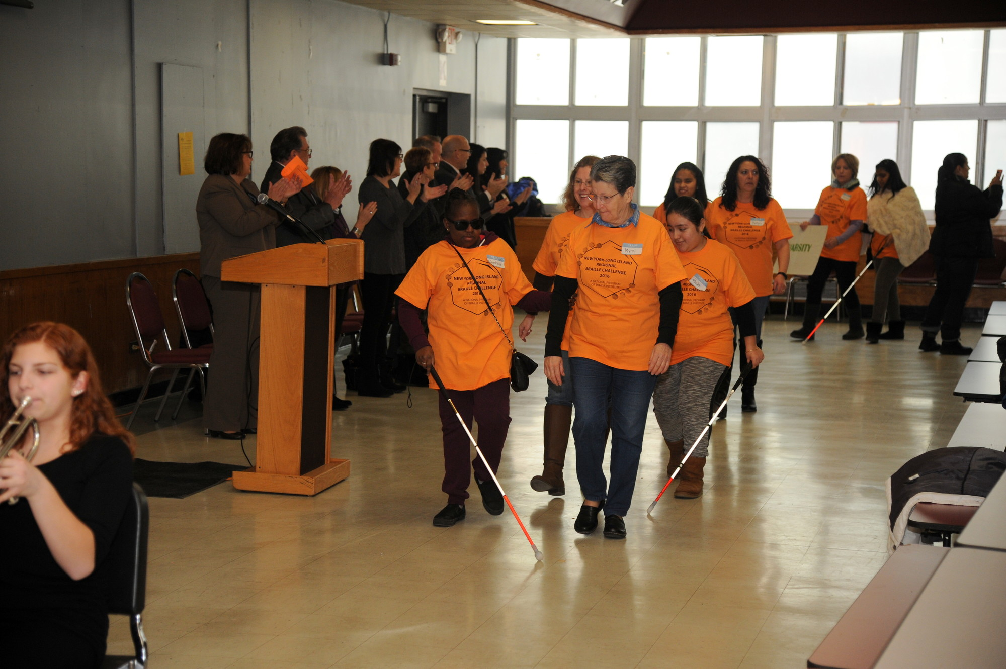 About 15 students marched into the Clarke cafeteria, ready to test their skills.