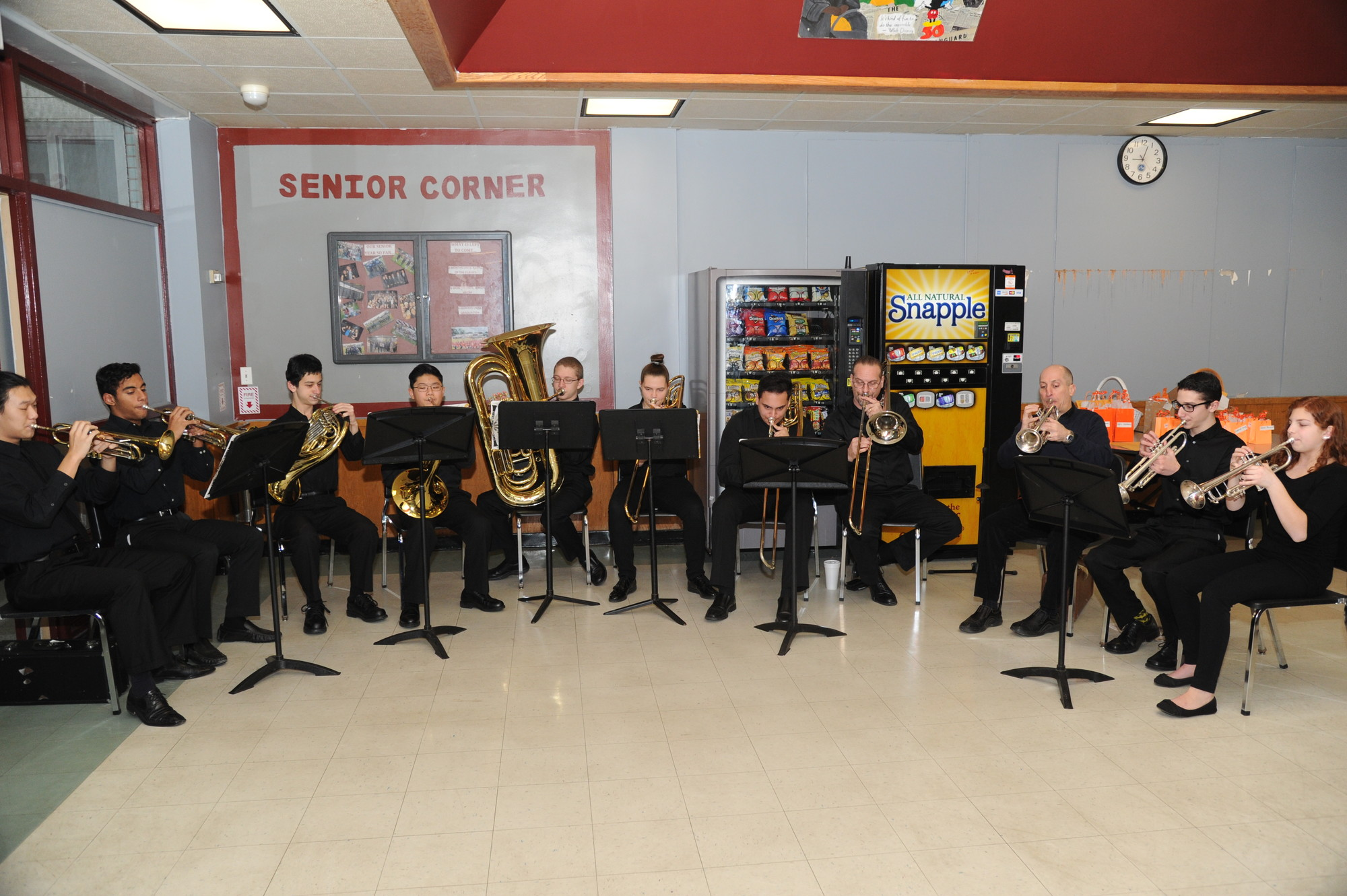 Clarke's brass ensemble entertained the crowd before the contest began.