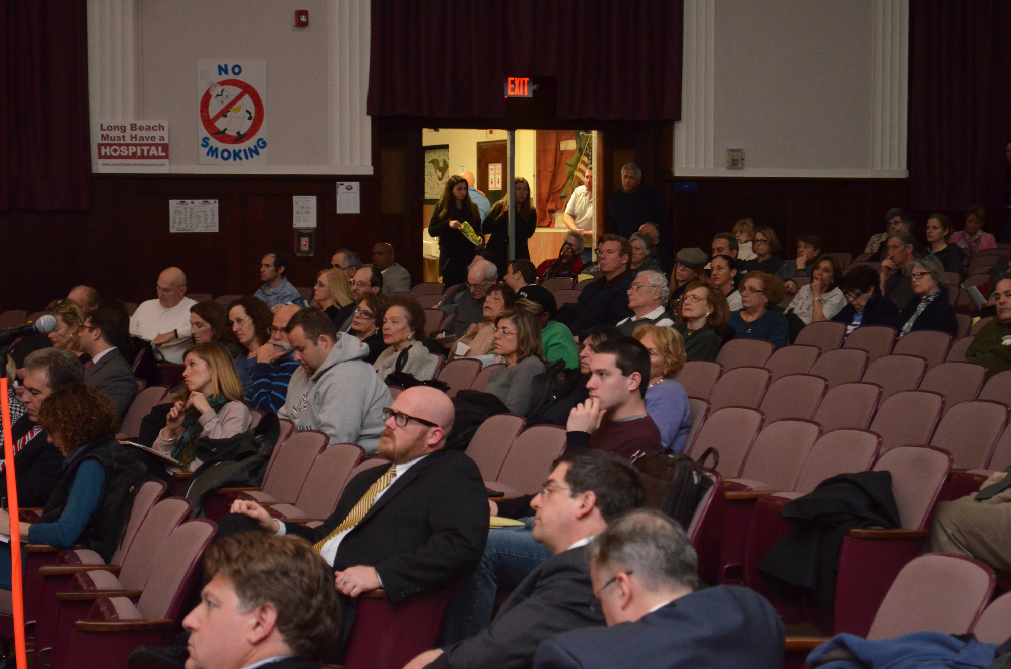 More than 100 residents and local officials attended Monday's forum at Lindell Elementary School.