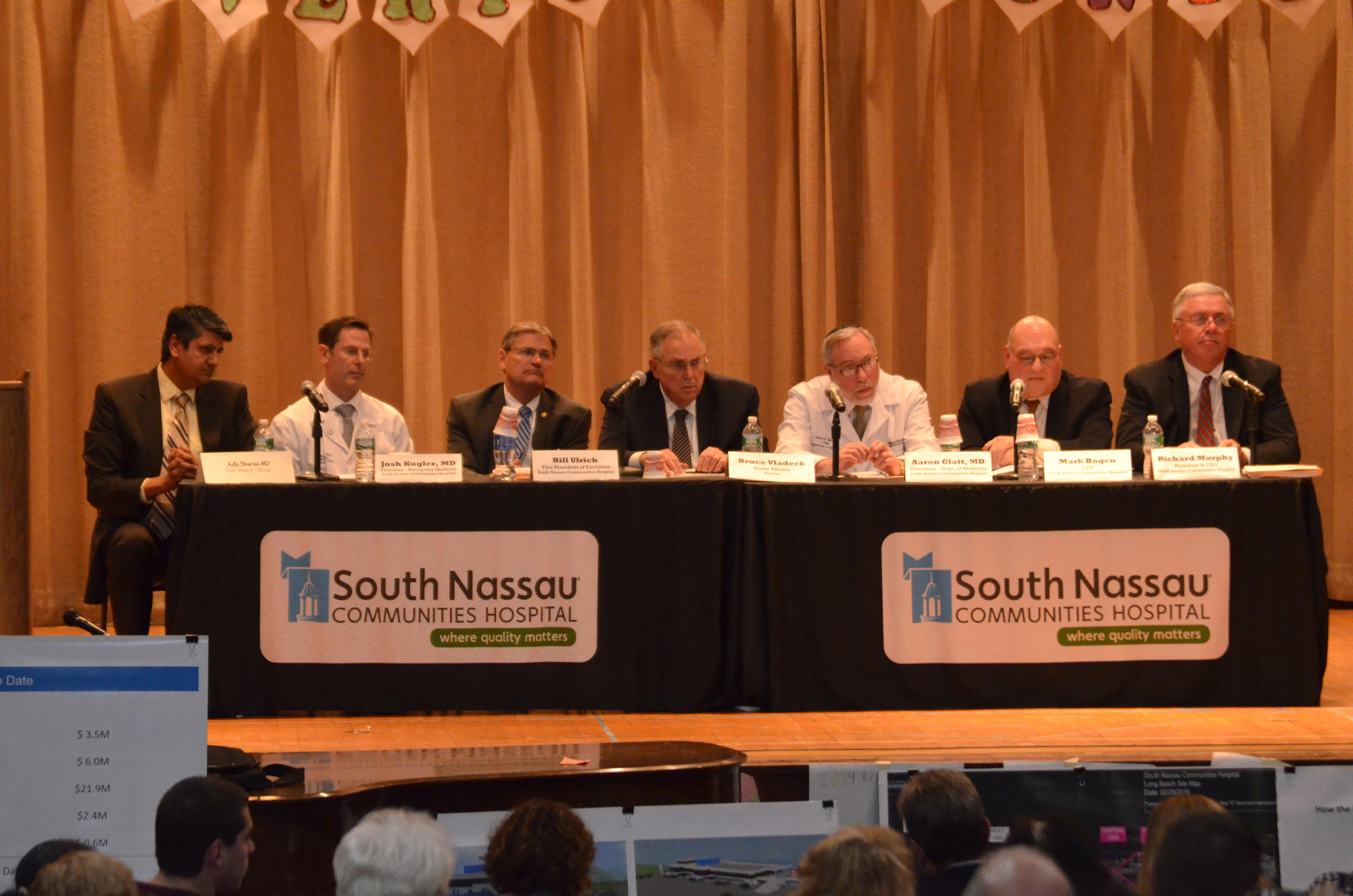 South Nassau Communities Hospital representatives presented the results of a study that concluded that a full-service hospital with 50 beds would lose more than $10 million per year.