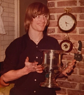 Bill Jensen, class of 1973, took the victory cup to a silversmith in Rockville Centre to have inscriptions that were made by a few pranksters on it buffed out.