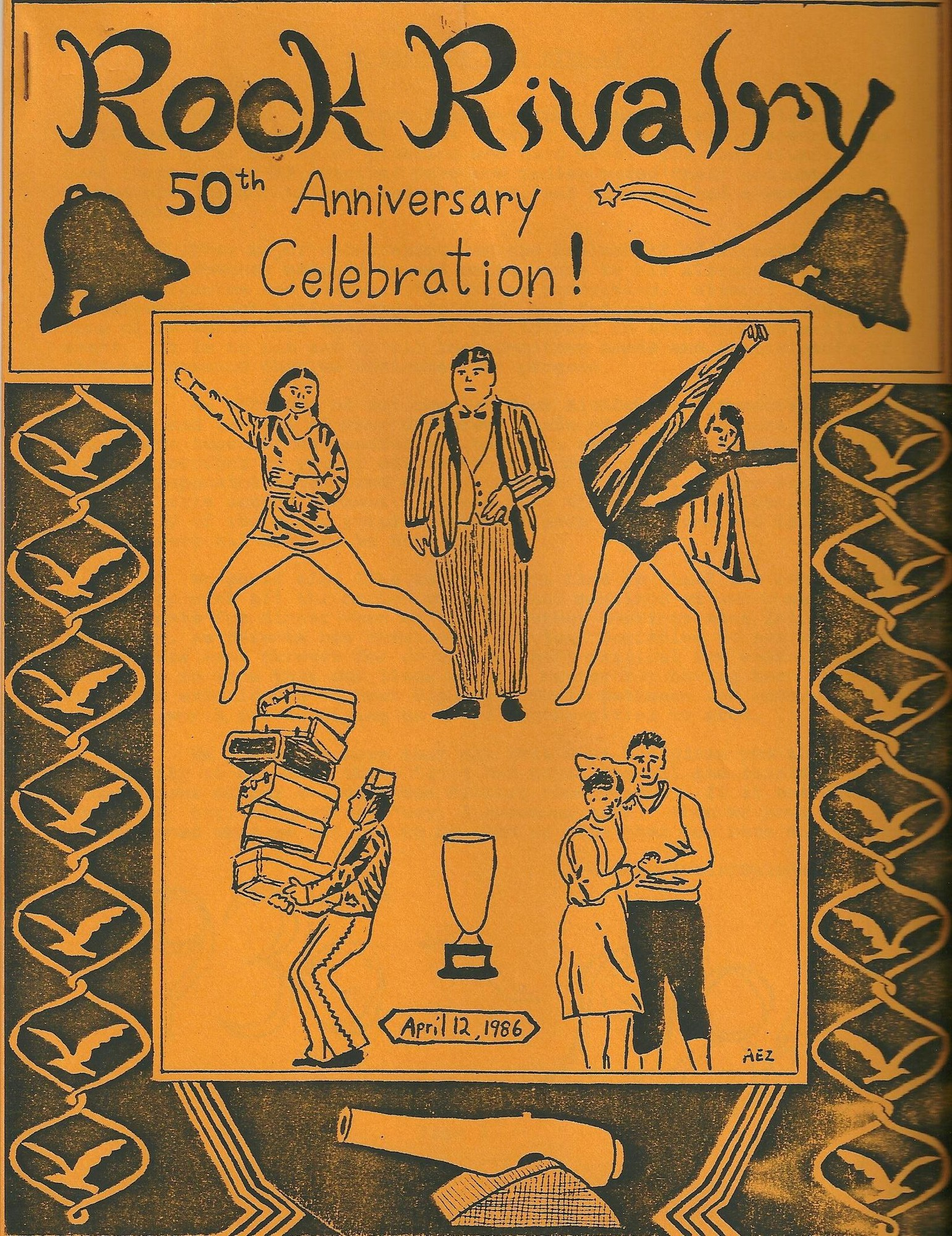 The program for the 50th anniversary celebration of Rock Rivalry.