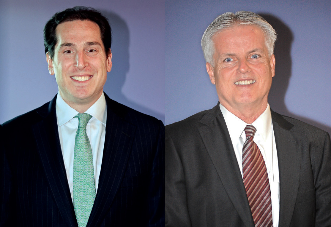 State Assemblyman Todd Kaminsky, left, a Democrat from Long Beach running for State Senate, called out his Republican opponent, attorney Chris McGrath, for not supporting the 'Clean Conscience Pledge.""