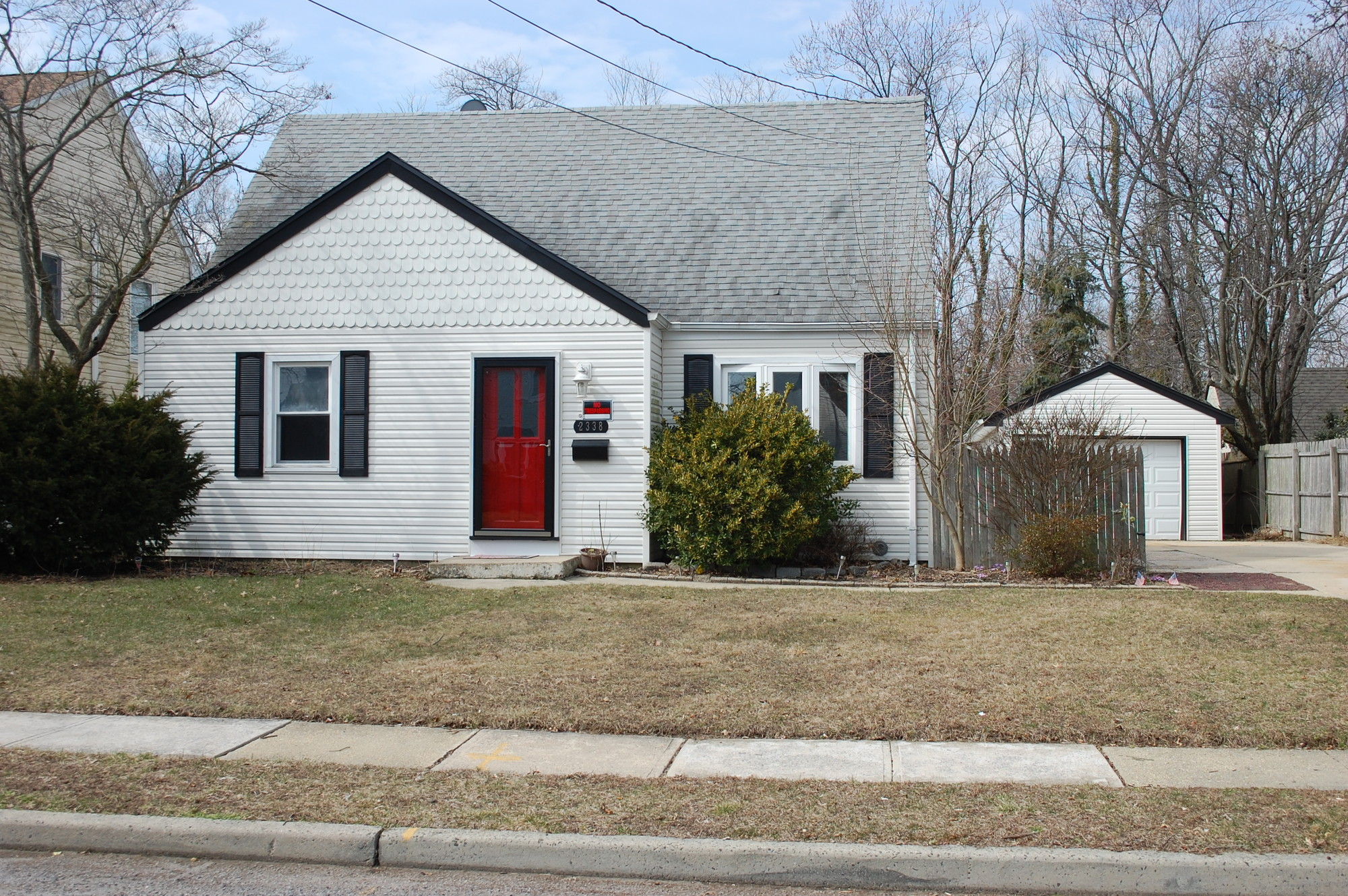2338 Pine St. is one of two Sandy-damaged homes in Seaford up for auction.