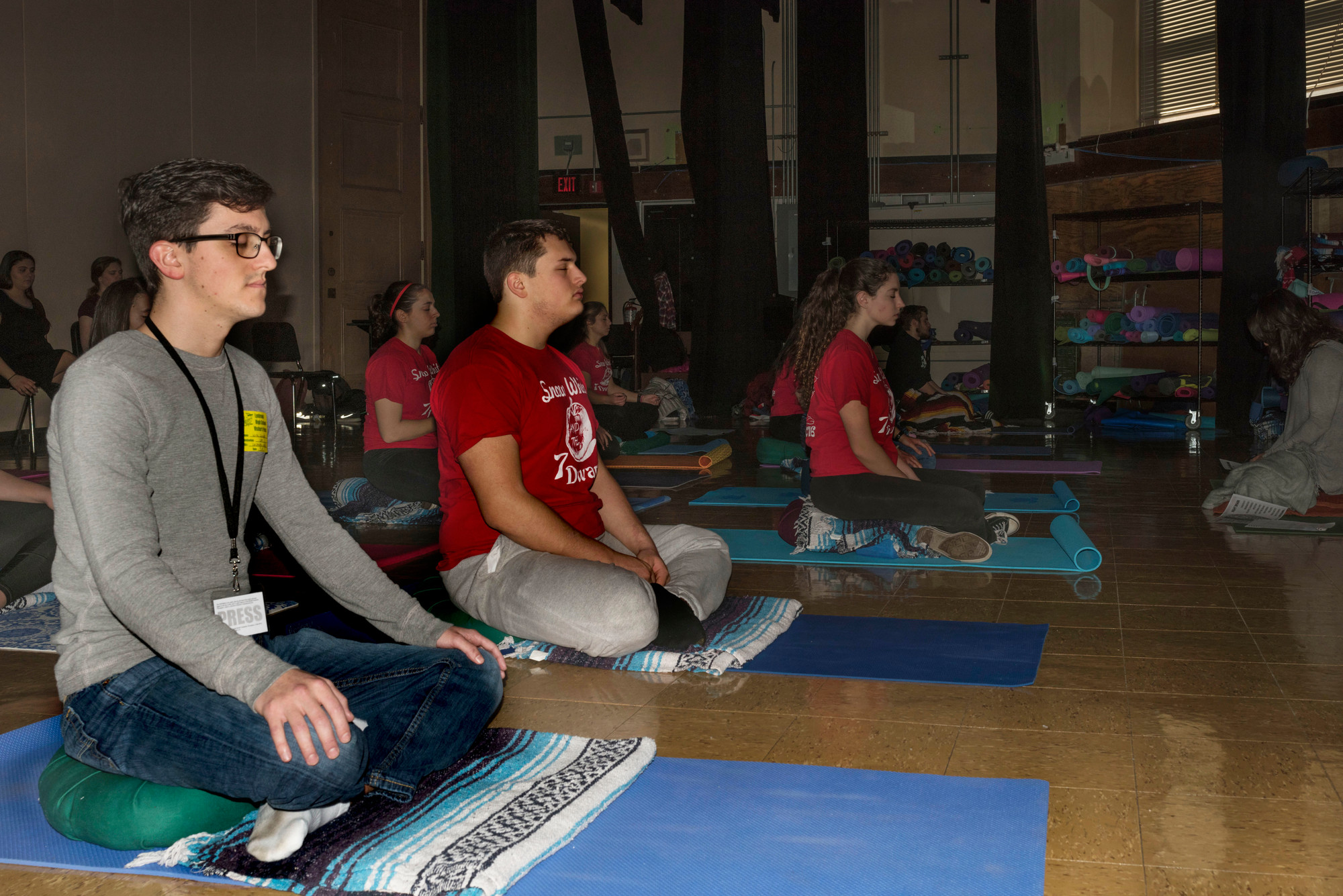 Herald reporter Nick Ciccone attended a new mindfulness meditation course at LHS recently, which DeBetta created after learning the practice at the University of Massachusetts.
