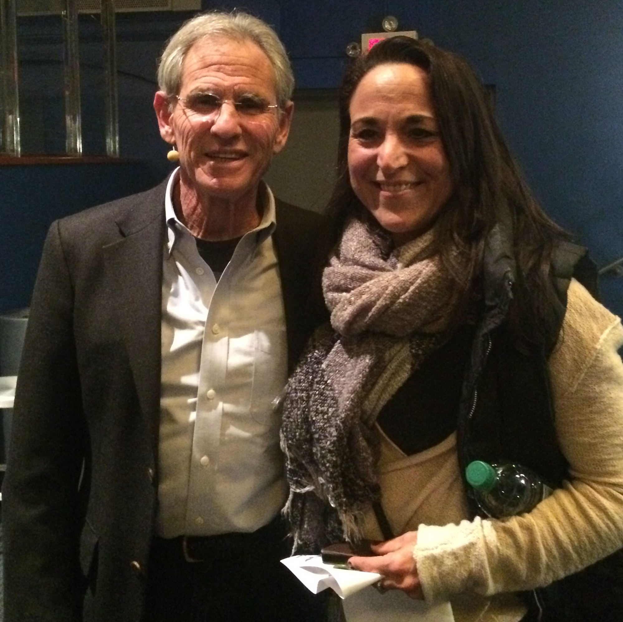 Jon Kabat-Zinn, left, with DeBetta in November 2015, developed the Mindfulness-Based Stress Reduction program at the University of Massachusetts Medical Center in 1979, which used specific exercises to help patients dealing with chronic pain.