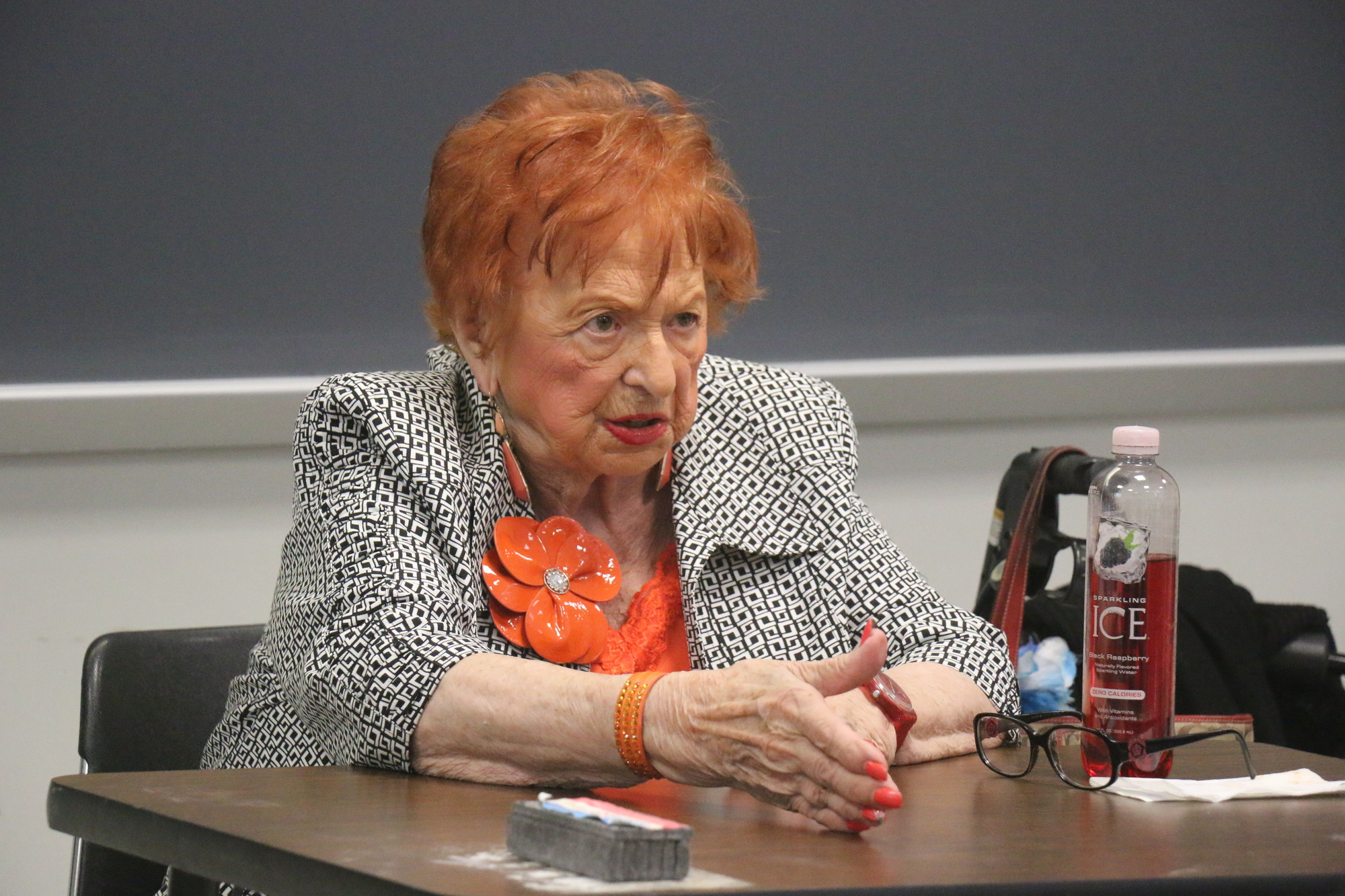 Holocaust survivor Shula Kozuch shared her tale of life at Auschwitz and her liberation.