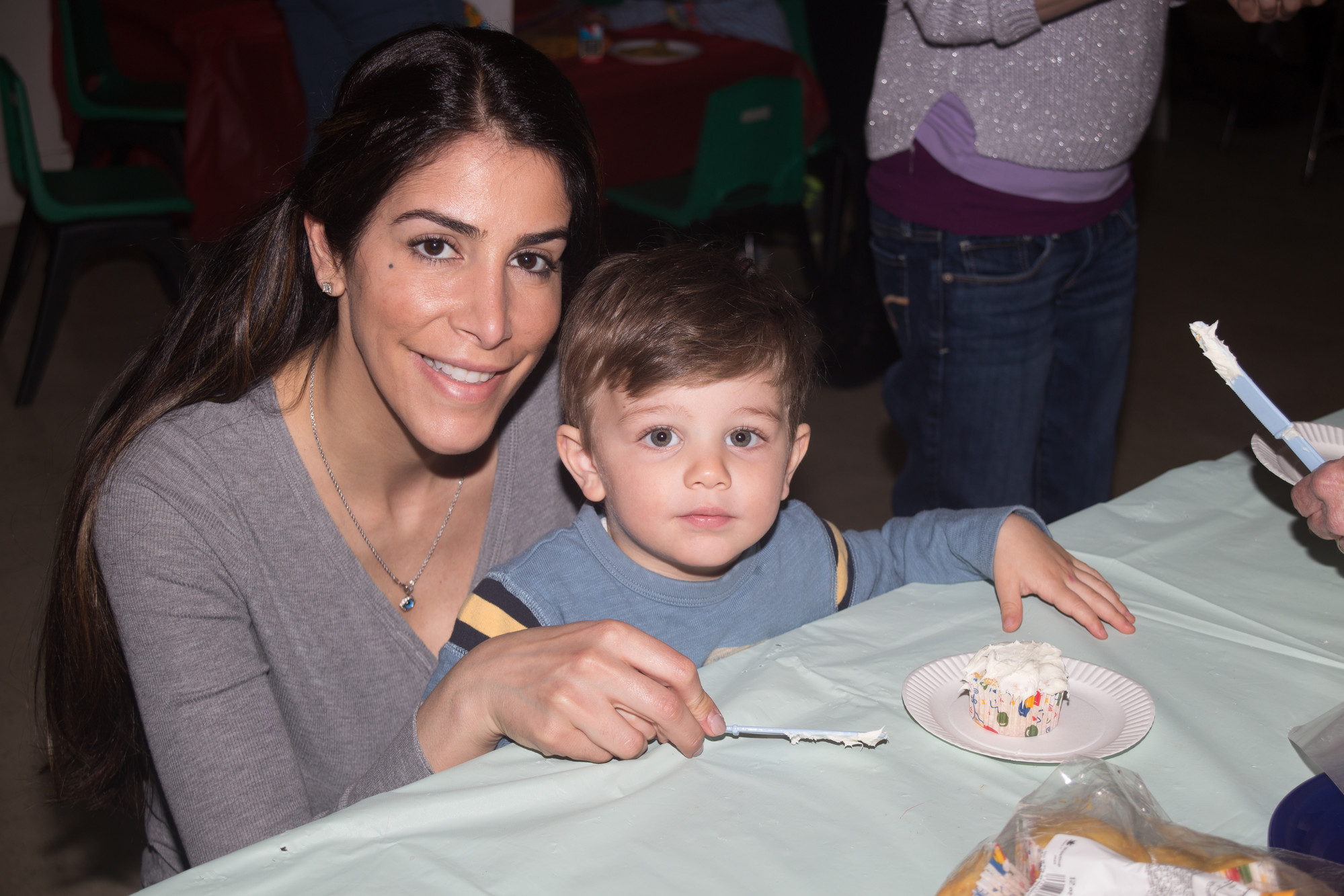 Michele and Michael Devito, 2, had a cupcake at First Presbyterian Church.