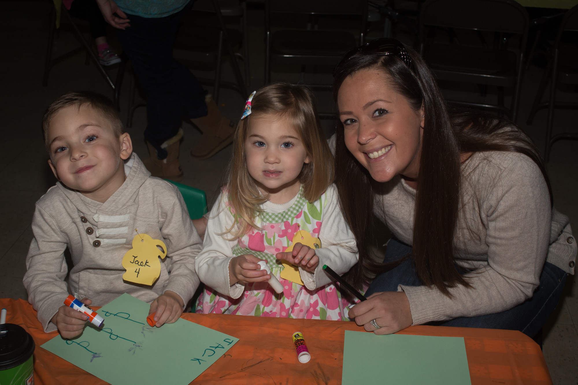 There were smiles on the faces of Jack, 4, Sarah, 3, and Patti Hotzetz.